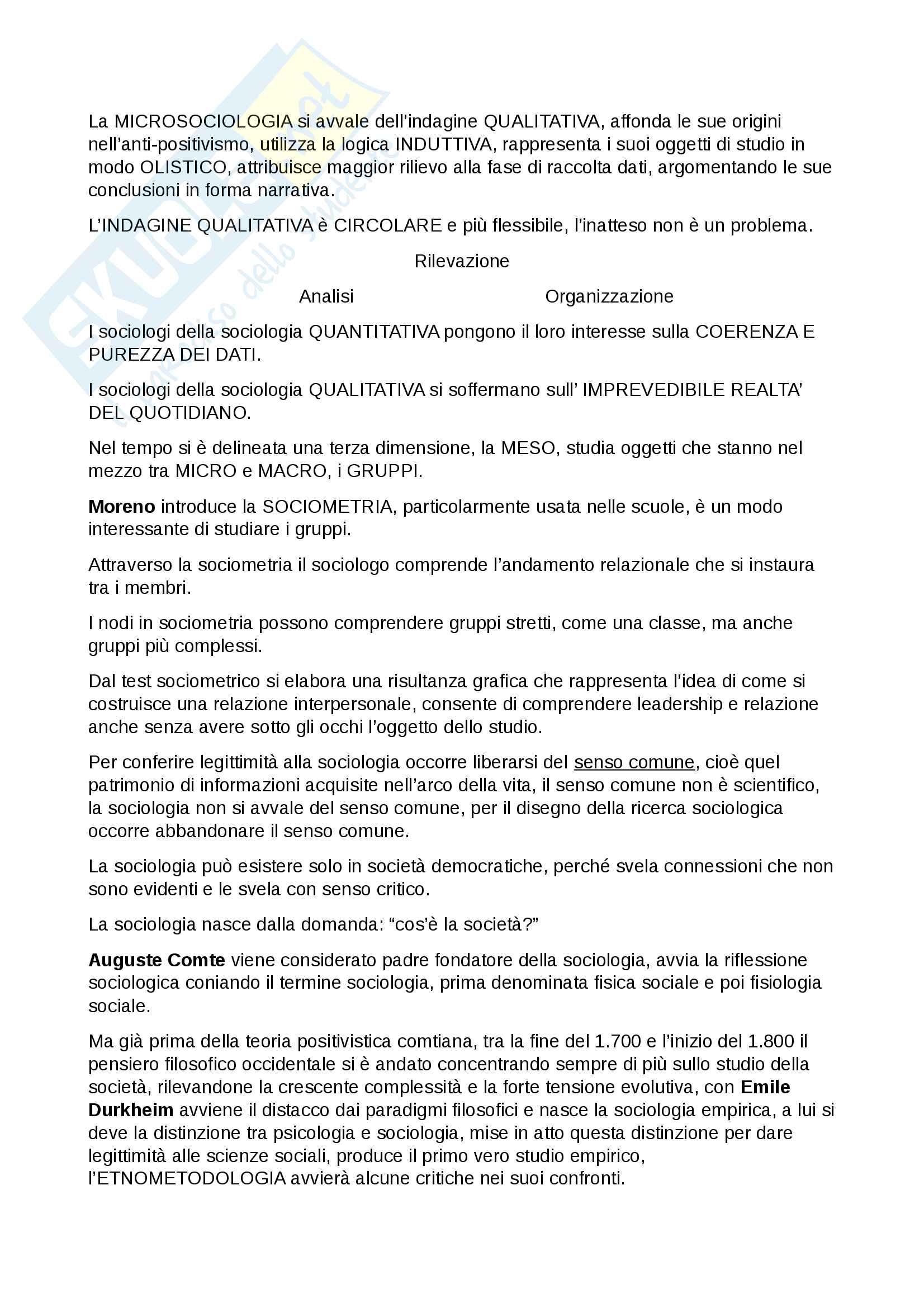Esame Istituzioni di sociologia prof. Ciampi Pag. 6