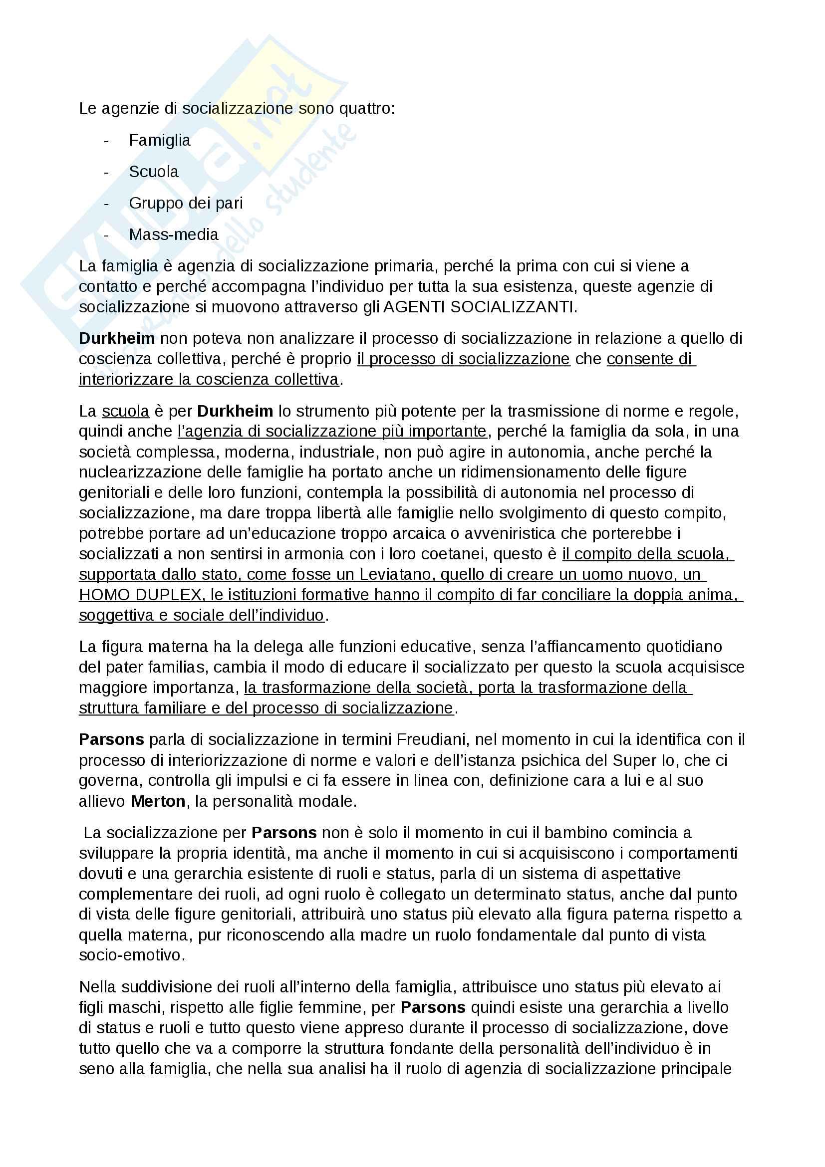 Esame Istituzioni di sociologia prof. Ciampi Pag. 66