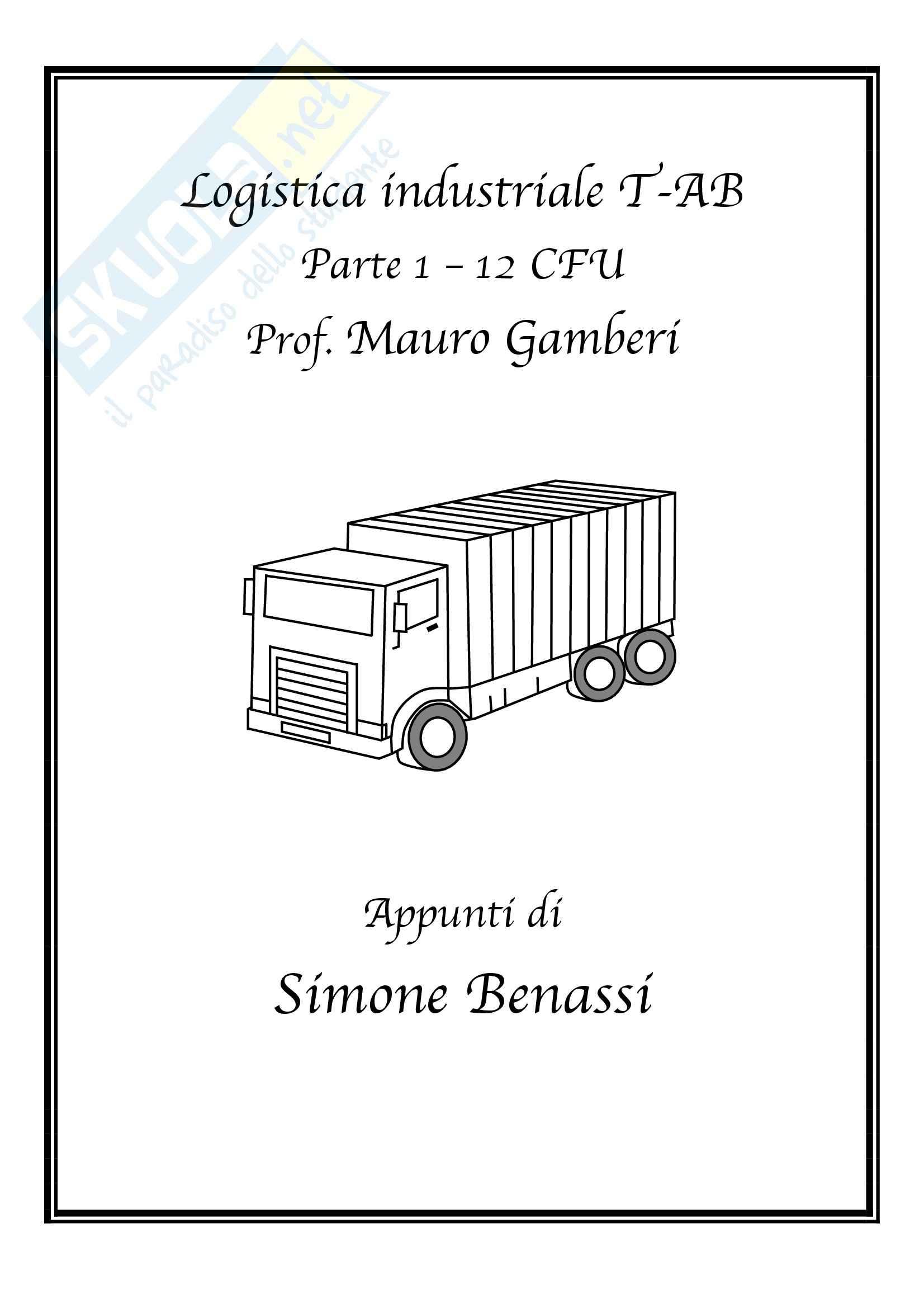 Logistica industriale T-AB - Appunti prima parte