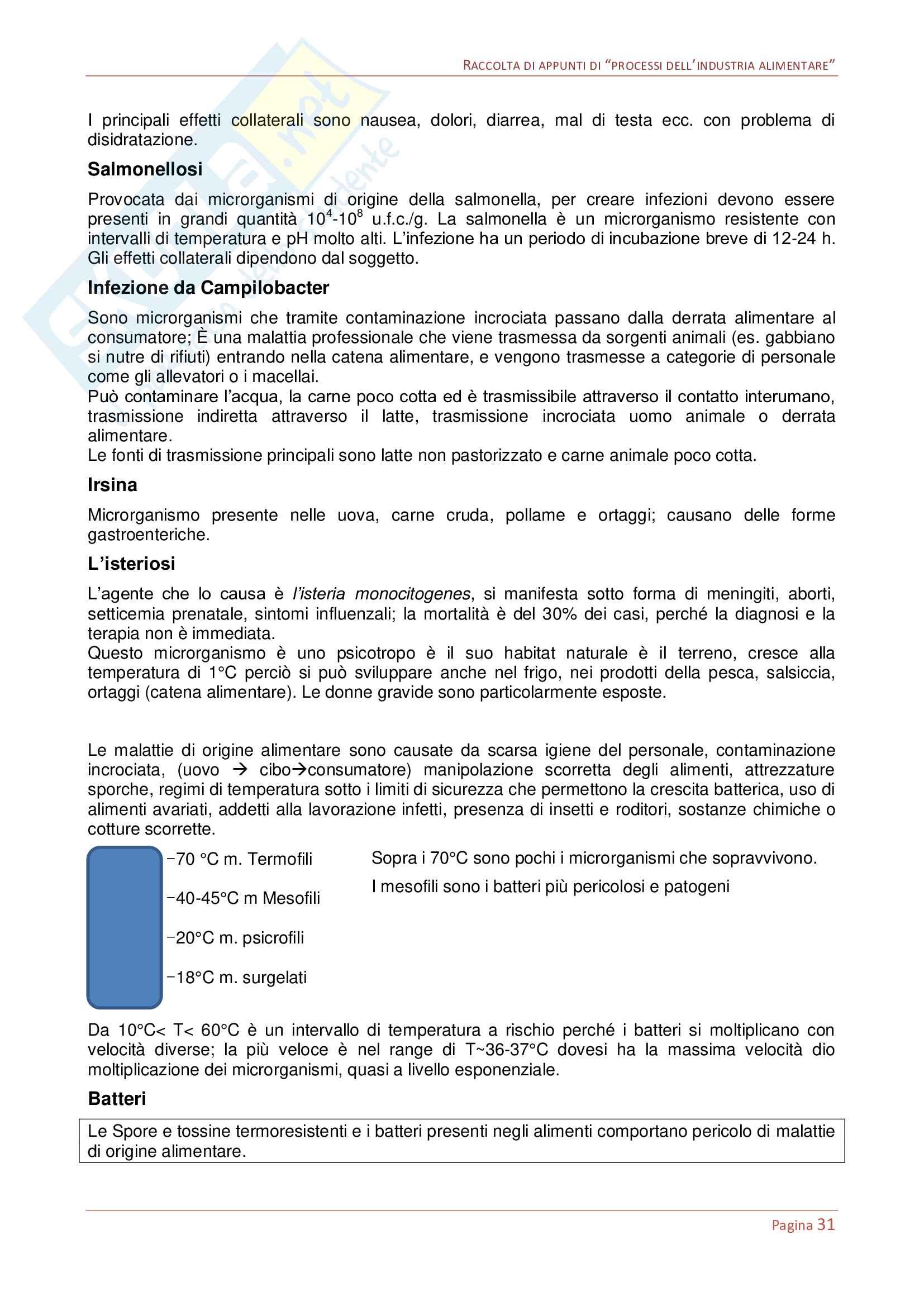 Processi dell'industria alimentare Pag. 31