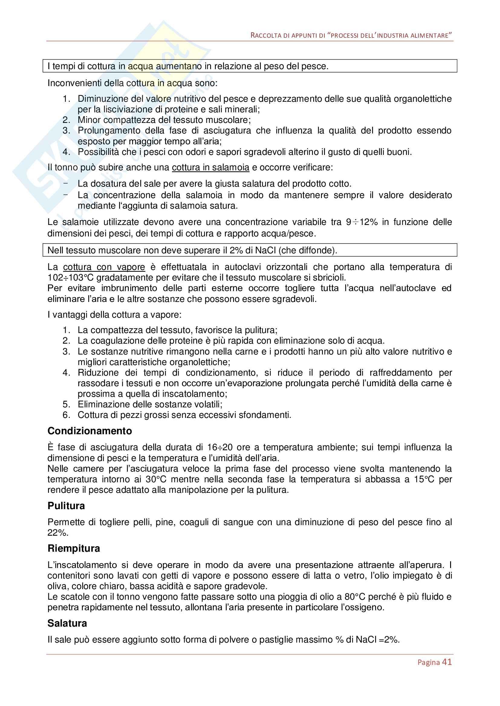 Processi dell'industria alimentare Pag. 41