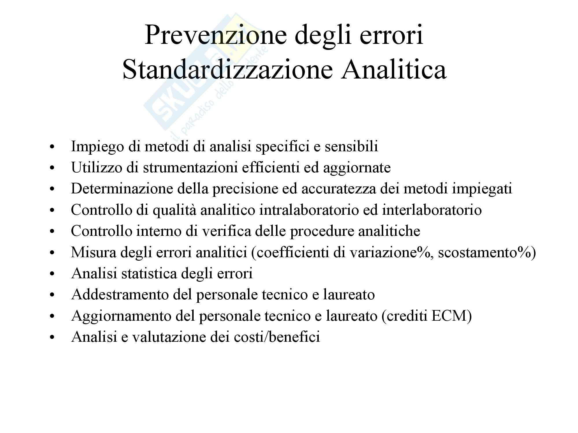 Biochimica Clinica e patologia clinica - Introduzione Pag. 11