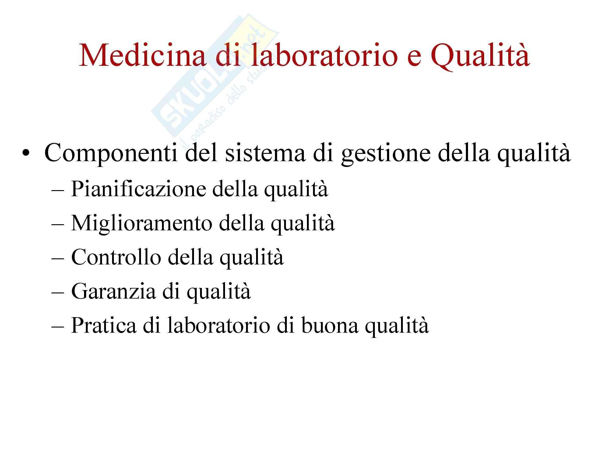 Biochimica Clinica e patologia clinica - Introduzione Pag. 2