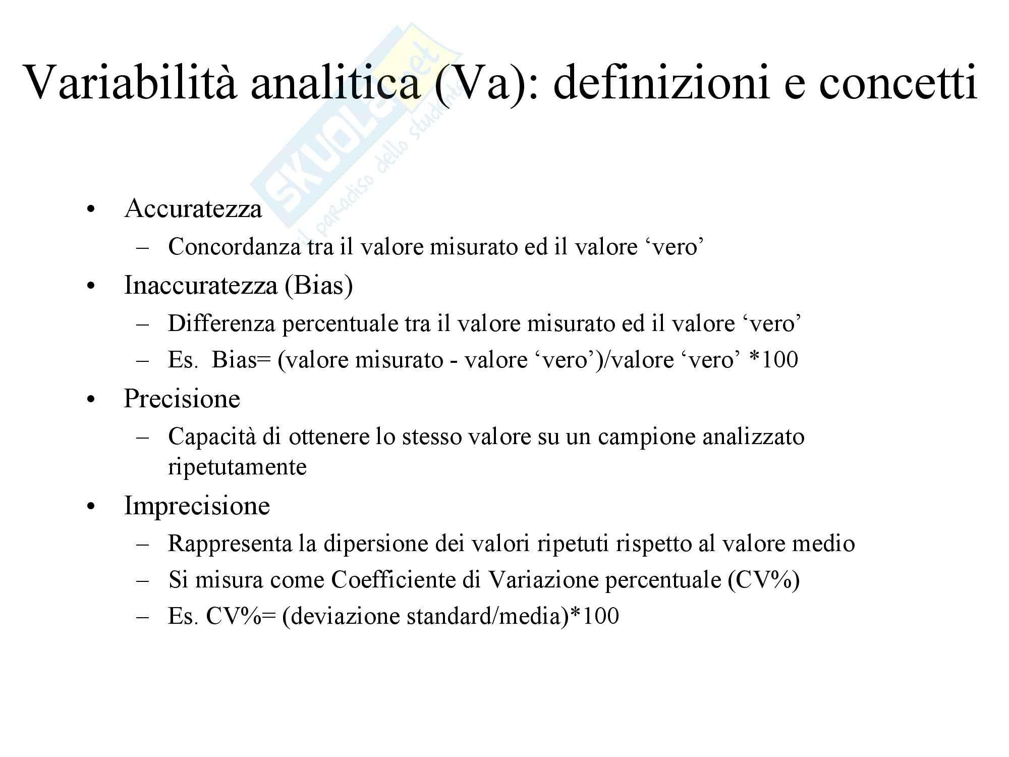 Biochimica Clinica e patologia clinica - Introduzione Pag. 6