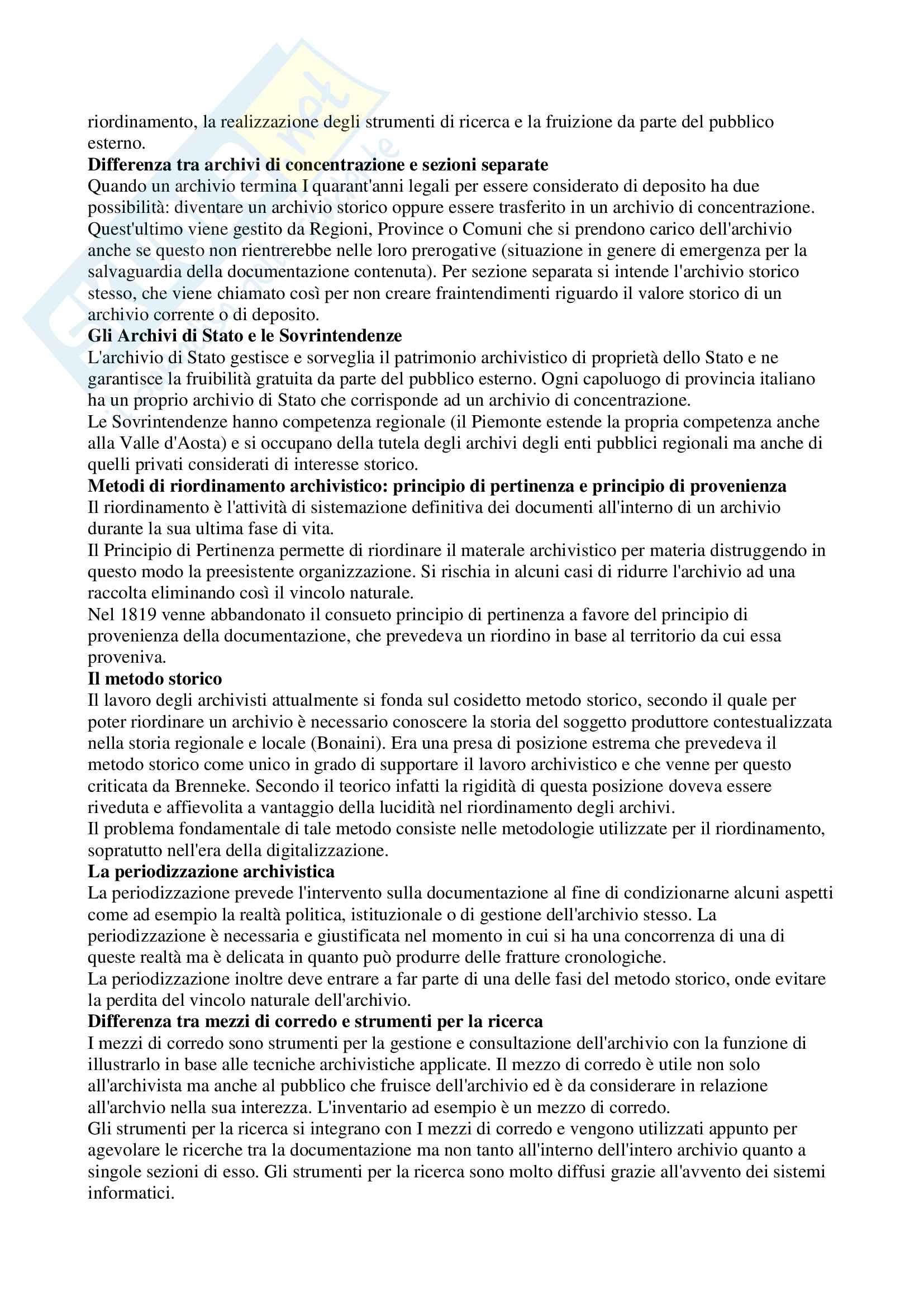 Archivistica generale Pag. 6