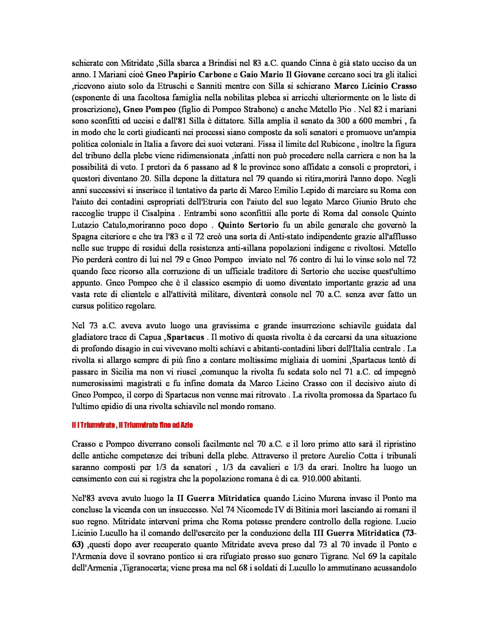 Riassunto esame Storia romana, prof. Soricelli, libro consigliato Introduzione alla storia di Roma, Gabba, Foroboschi Pag. 16
