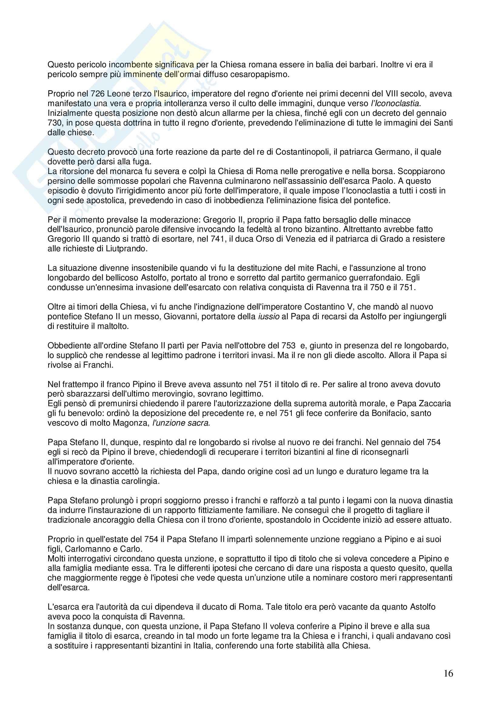 Riassunto esame STORIA DEL DIRITTO ITALIANO, prof. Vallone, libro consigliato Le grandi linee della storia giuridica medievale, Cortese Pag. 16