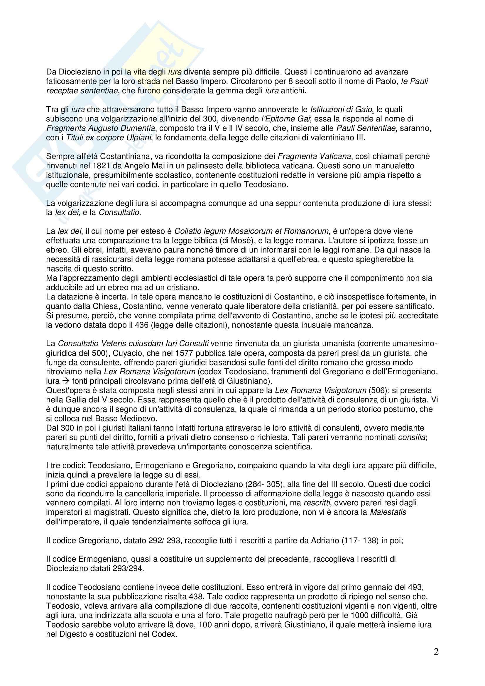 Riassunto esame STORIA DEL DIRITTO ITALIANO, prof. Vallone, libro consigliato Le grandi linee della storia giuridica medievale, Cortese Pag. 2