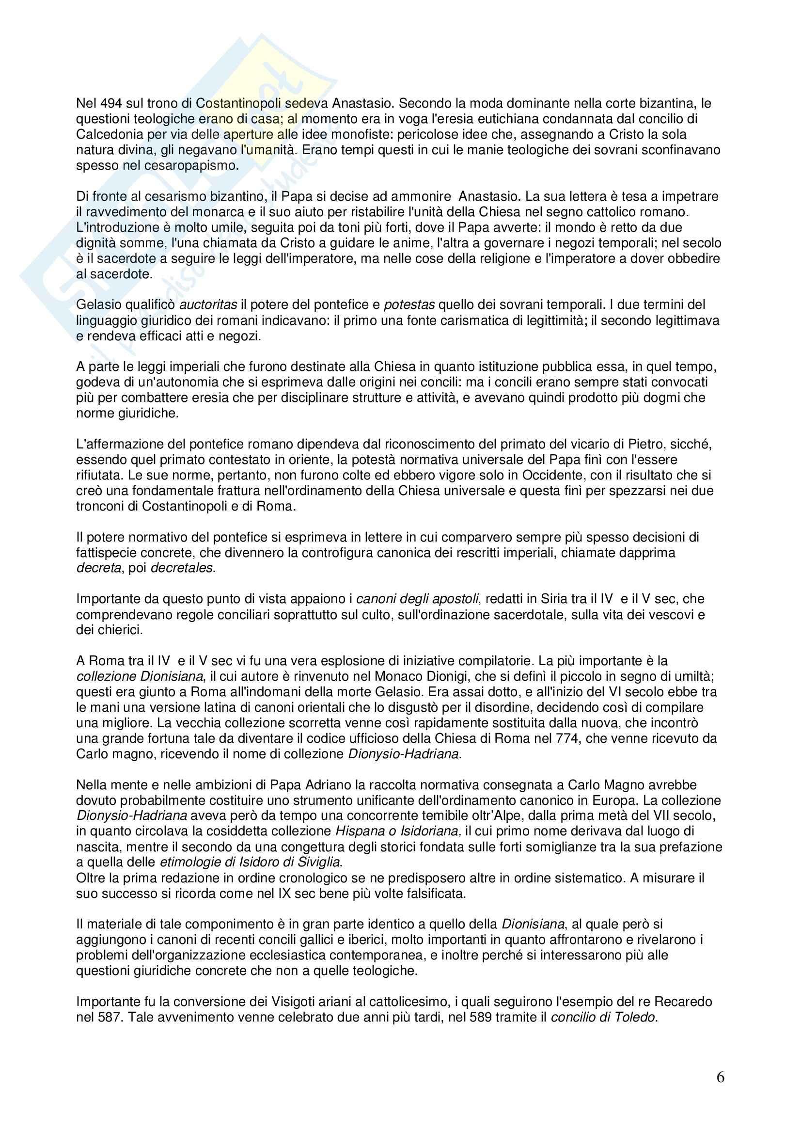 Riassunto esame STORIA DEL DIRITTO ITALIANO, prof. Vallone, libro consigliato Le grandi linee della storia giuridica medievale, Cortese Pag. 6