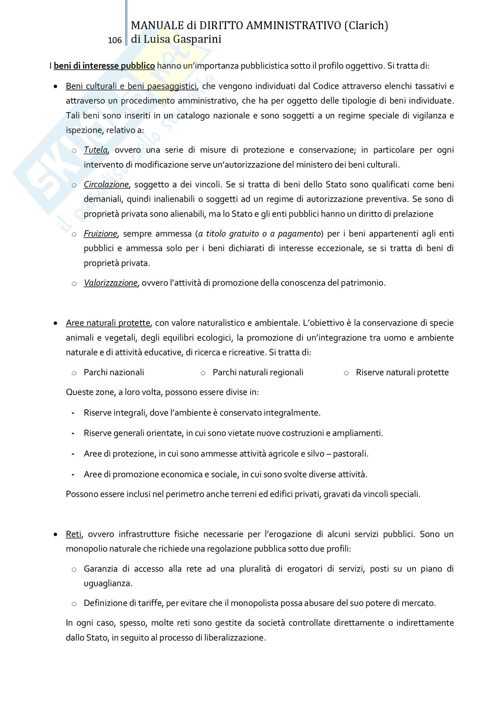 Riassunto esame Diritto amministrativo, professor Leonardi. Testo consigliato Manuale di Diritto Amministrativo, Clarich Pag. 106
