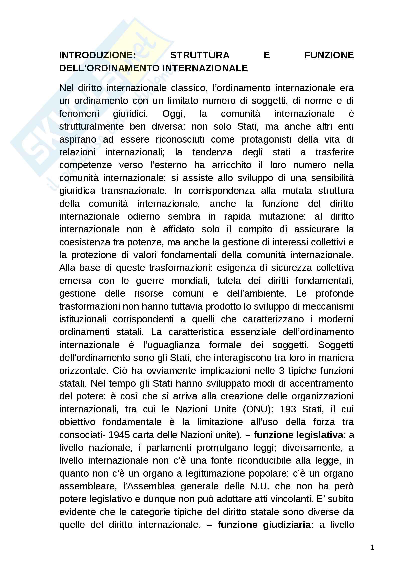 Riassunto esame diritto internazionale, Bufalini, libro consigliato Diritto internazionale di Cannizzaro