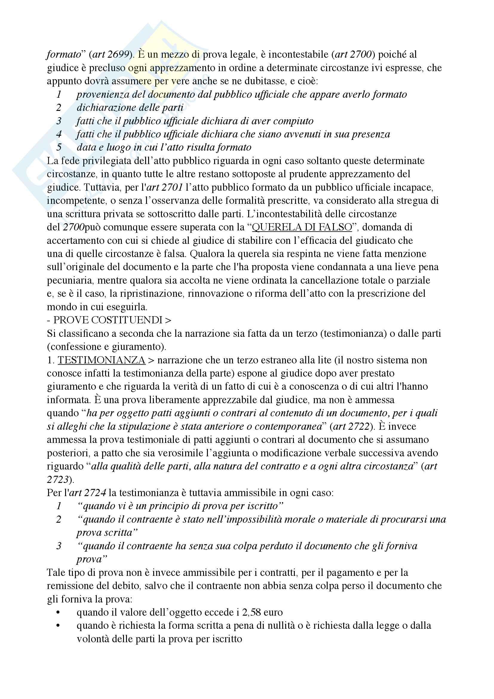 Riassunto esame diritto privato, Docente Ciatti, libro consiglio Diritto privato, Ciatti e Calvo Pag. 11