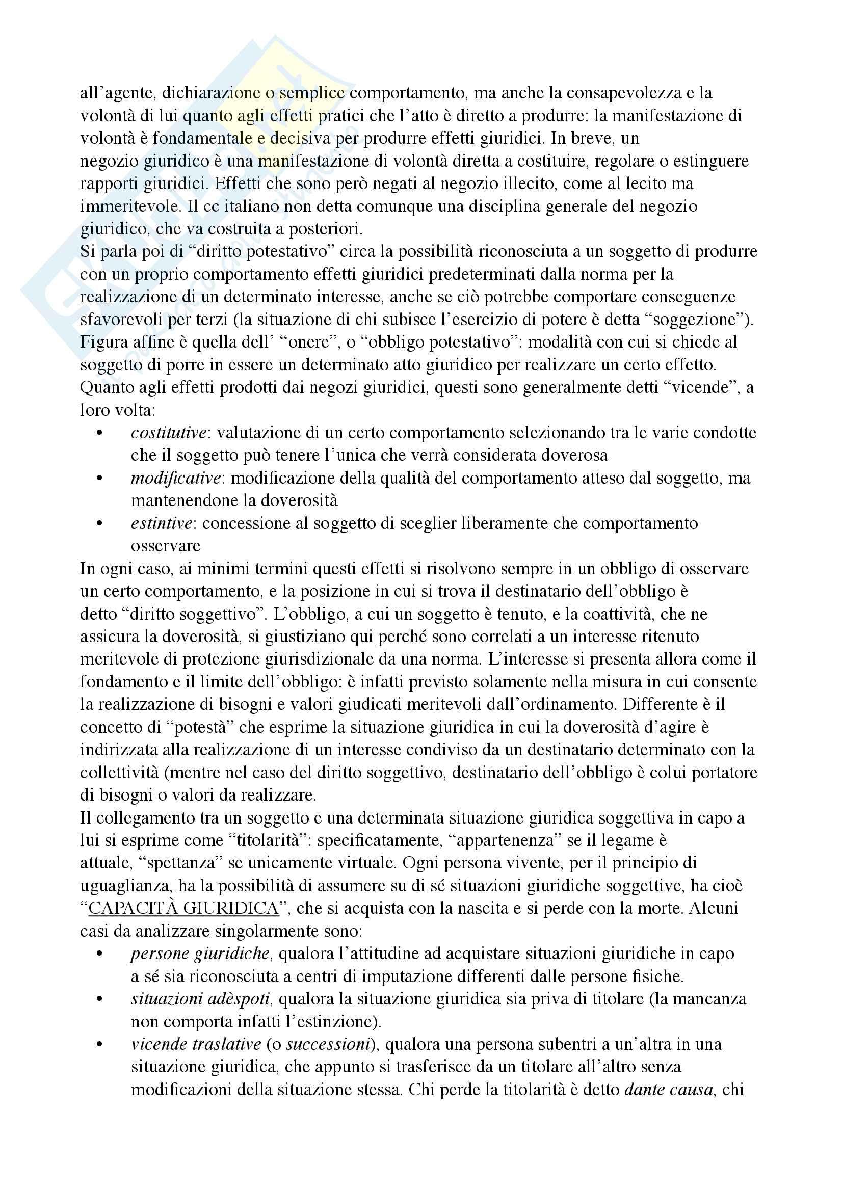 Riassunto esame diritto privato, Docente Ciatti, libro consiglio Diritto privato, Ciatti e Calvo Pag. 6