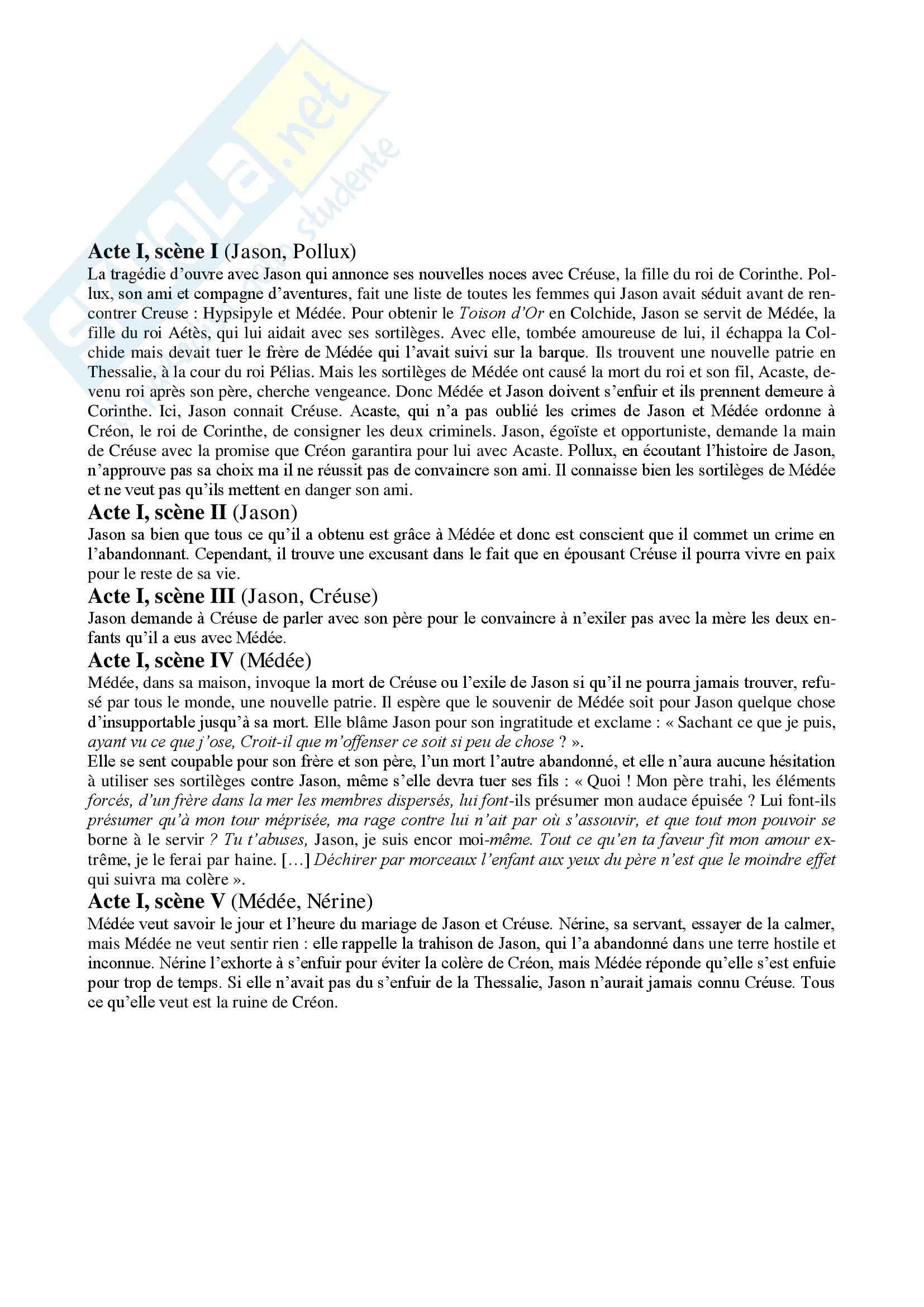 Medea di Corneille, Letteratura francese