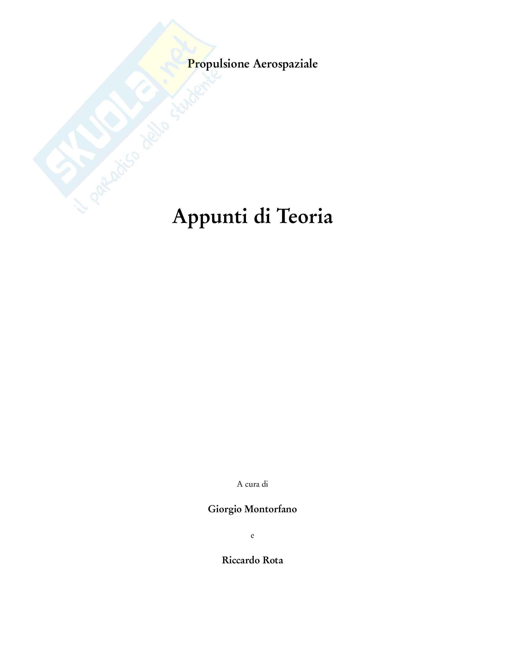Appunti di Propulsione Aerospaziale Pag. 2