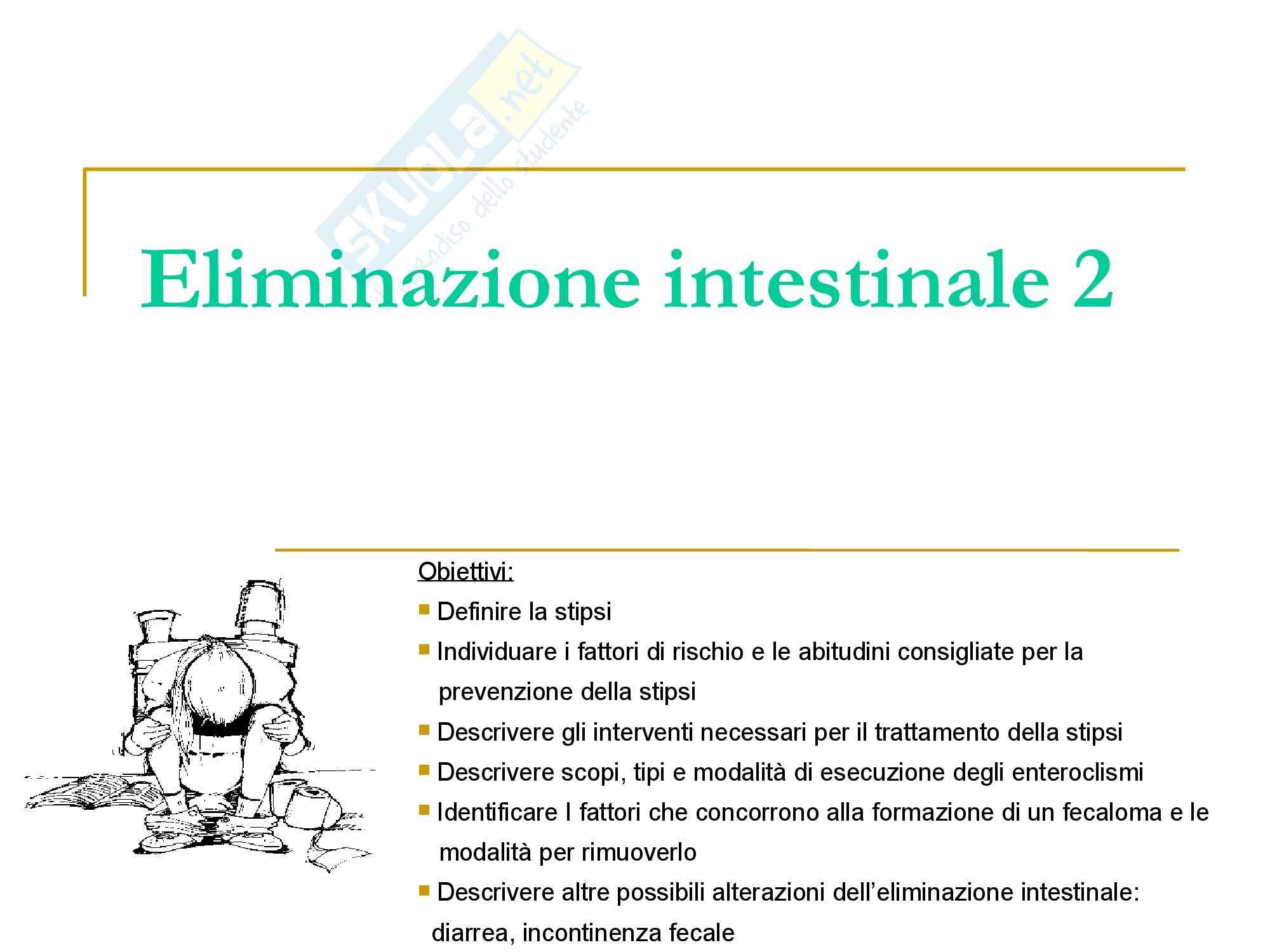 Infermieristica Clinica I – Eliminazione intestinale