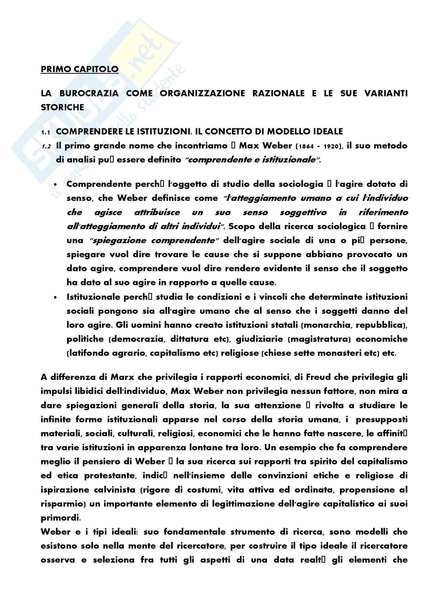 Riassunto esame Sociologia dell'Organizzazione, prof. Zenarolla, libro consigliato Come Studiare le Organizzazioni, Bonazzi