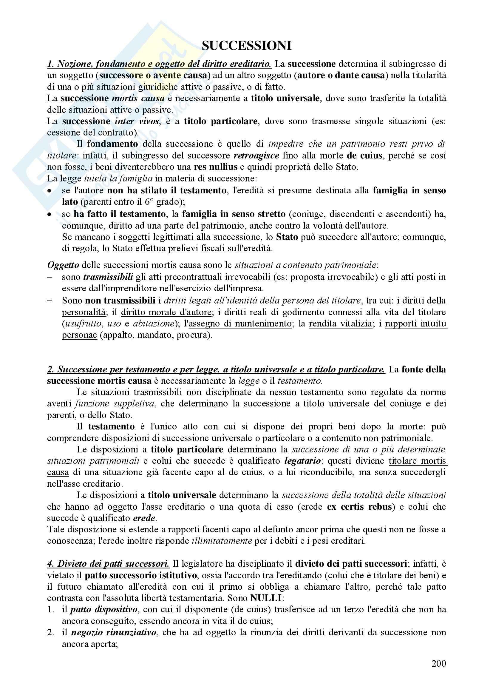 Diritto Civile - Perlingieri – Parte ottava – Riassunto esame