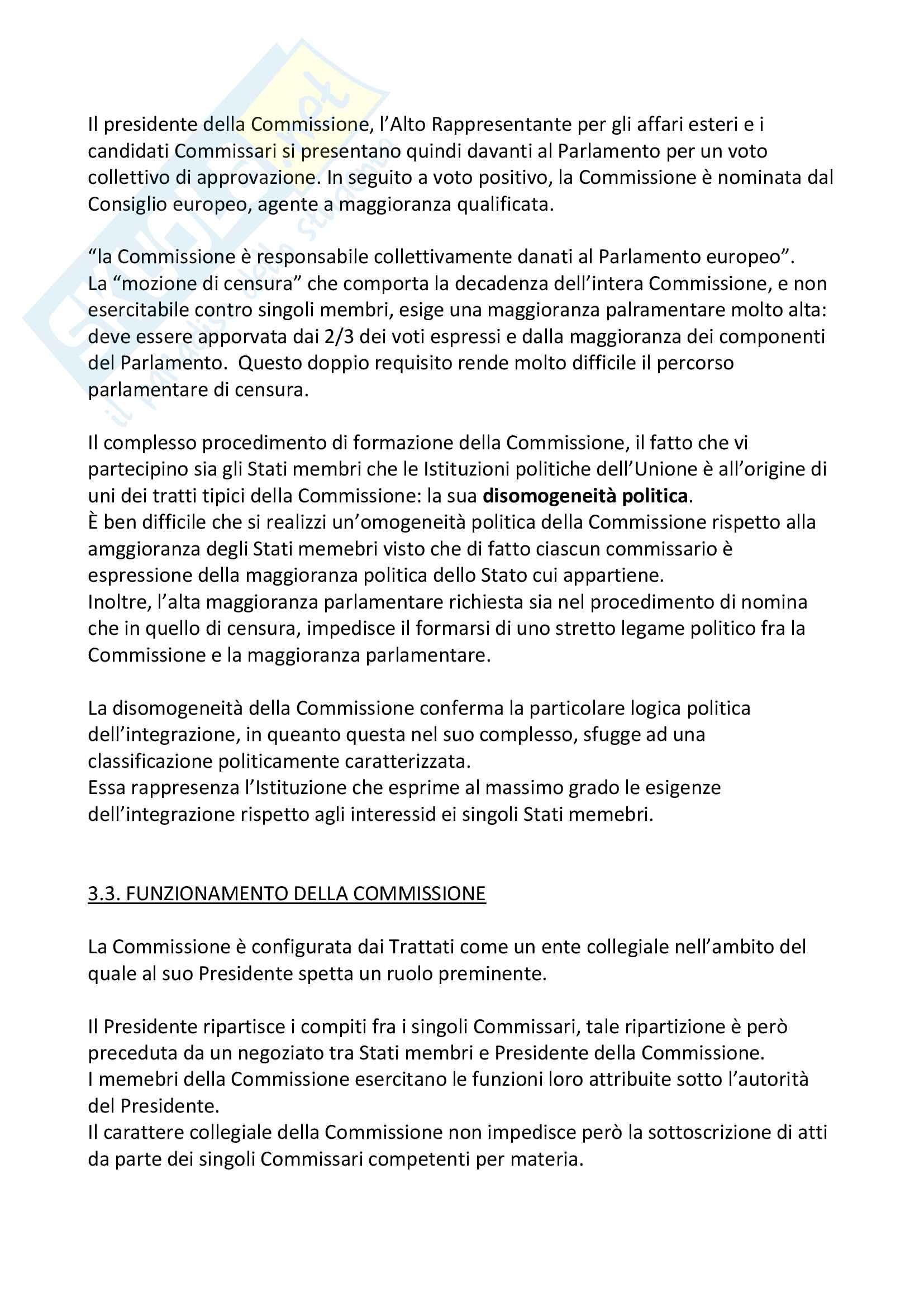 Le Istituzioni politiche dell'Unione Europea Pag. 6