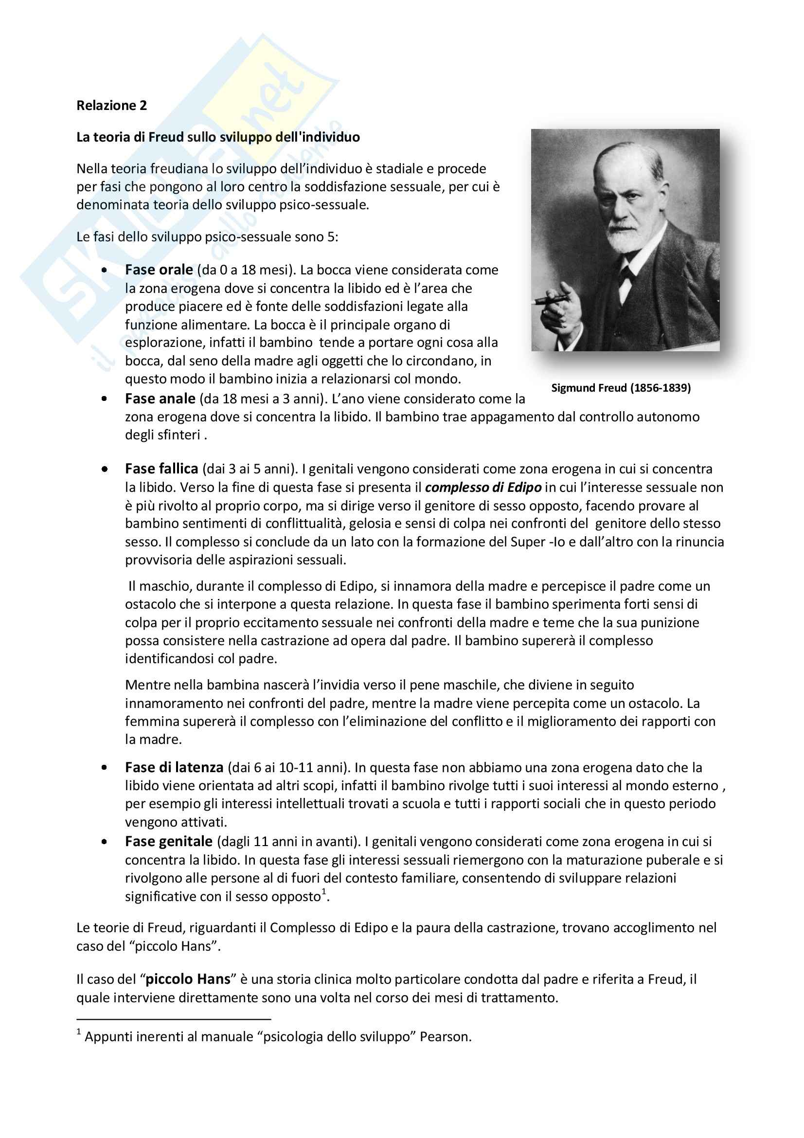 Teoria di Freud sullo sviluppo dell'individuo, Psicologia dello sviluppo