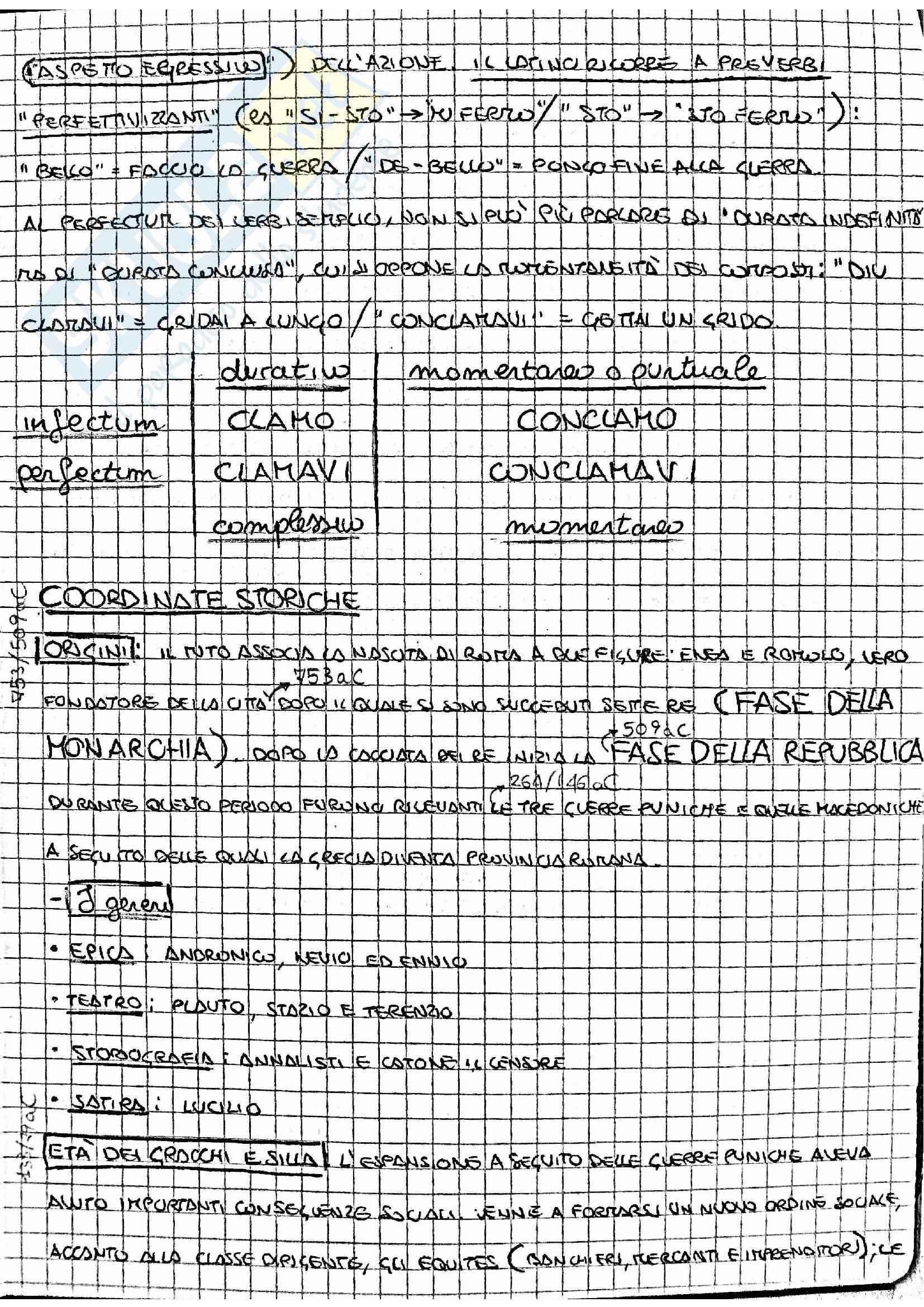 Riassunto esame Lingua e Letteratura Latina, prof. Bonanni, libro consigliato Propedeutica al Latino universitario, Traina, Bernardi Perini Pag. 31