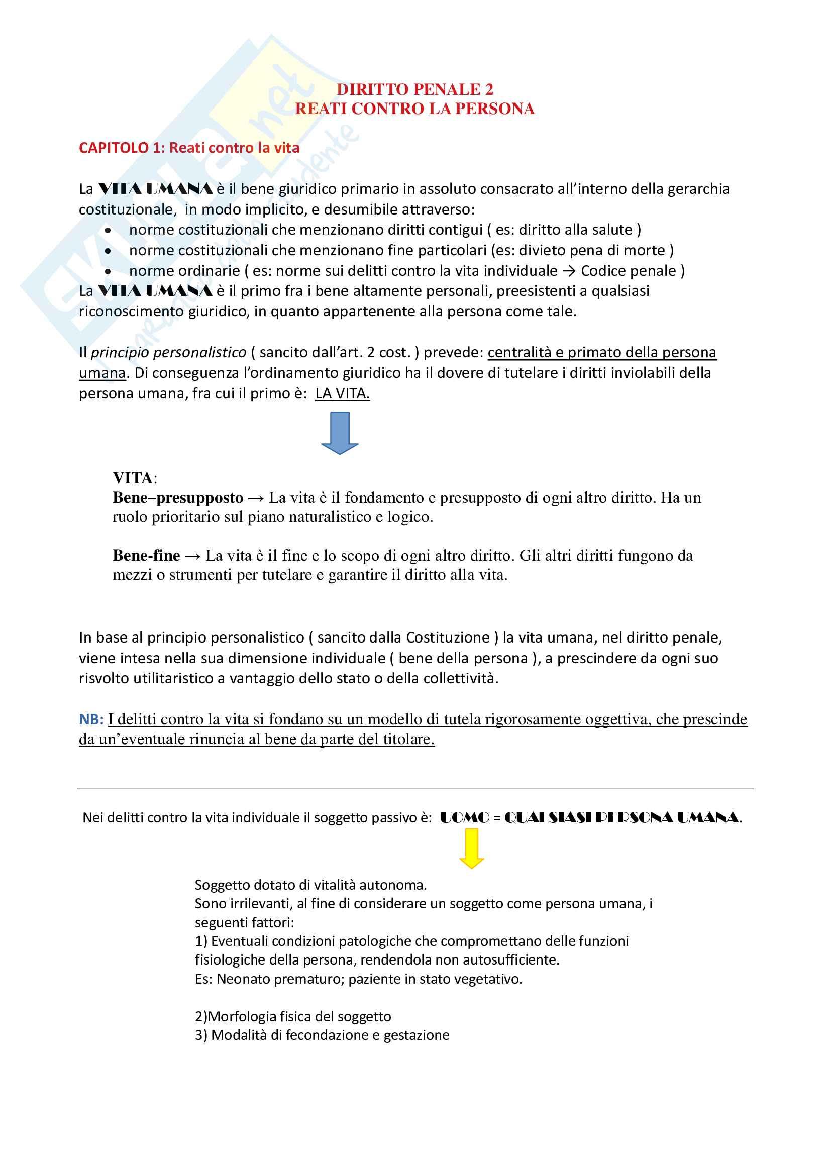 Riassunto esame Diritto Penale 2, prof. Fiorella, libro consigliato Manuale di diritto penale, Questioni fondamentali della parte speciale del diritto penale