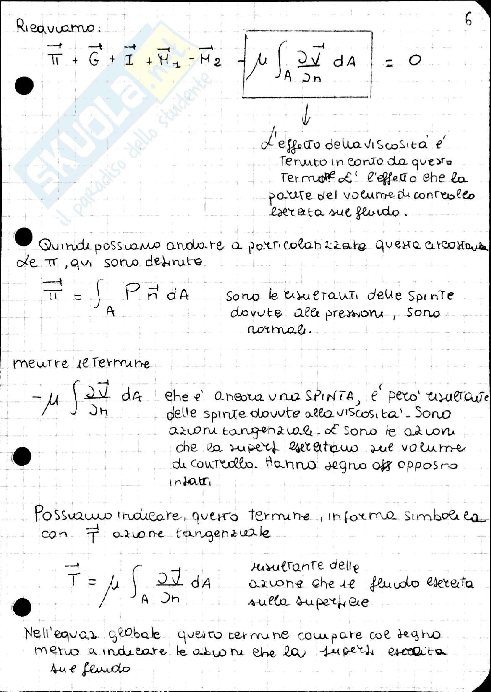 Equazione di Navier Stokes, Idraulica Pag. 11