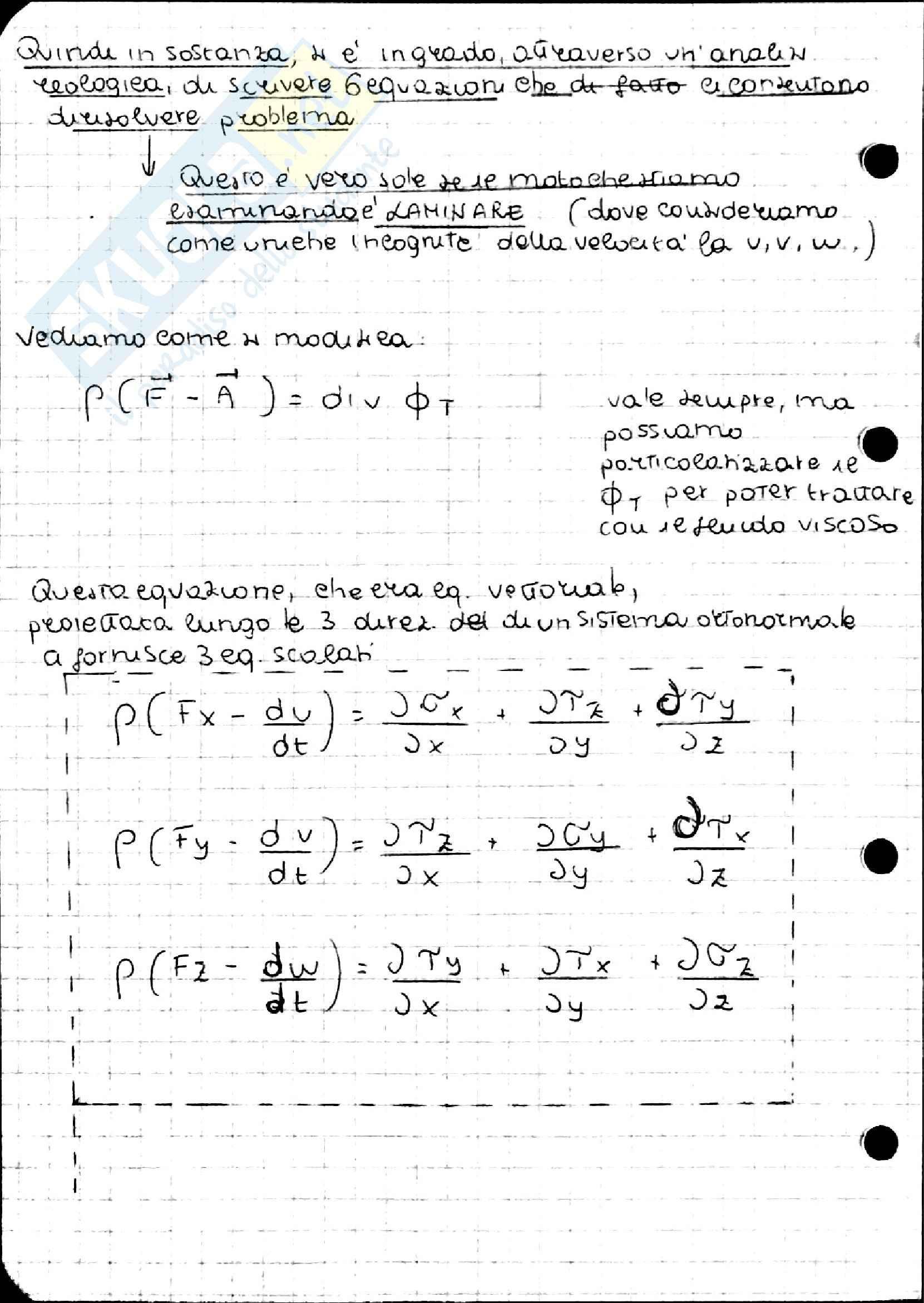 Equazione di Navier Stokes, Idraulica Pag. 6