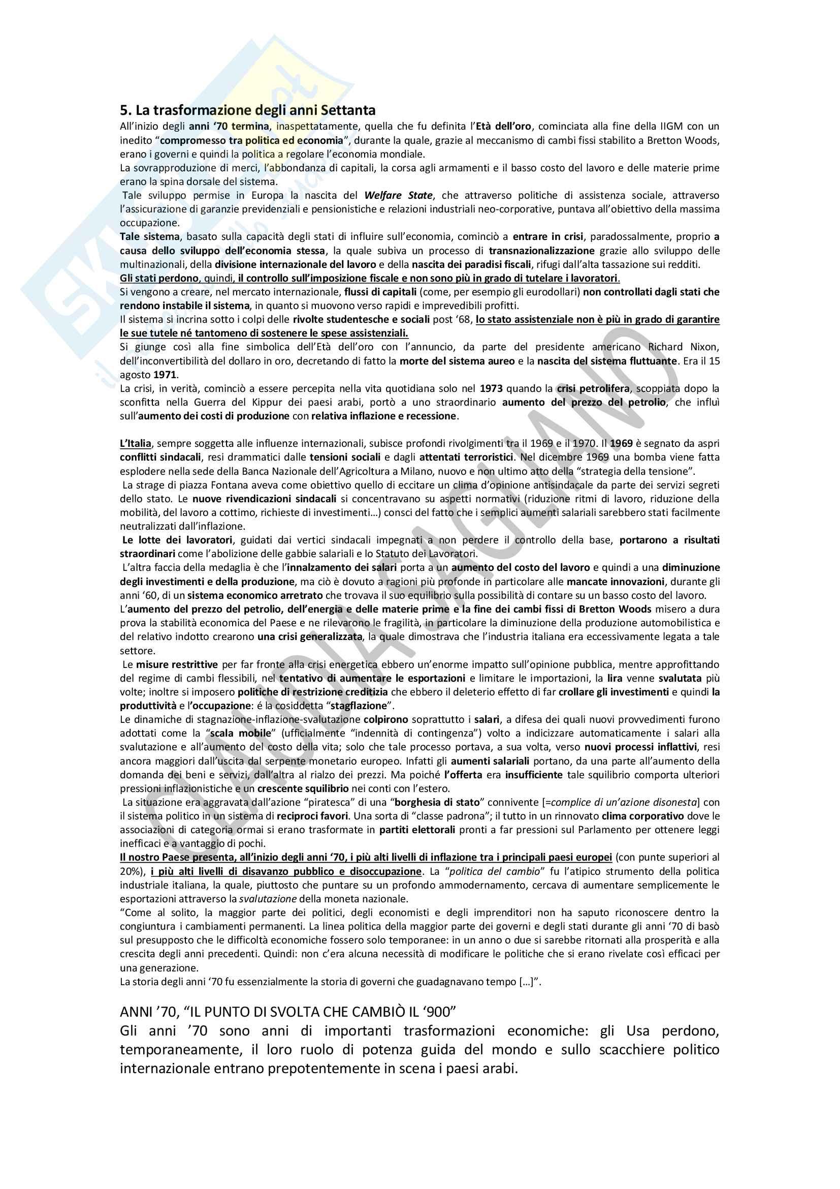 Riassunto esame storia economica, prof. Giulio Sapelli, libro consigliato: Storia Economica dell'Italia Contemporanea, Giulio Sapelli, capitoli 1-5 Pag. 11