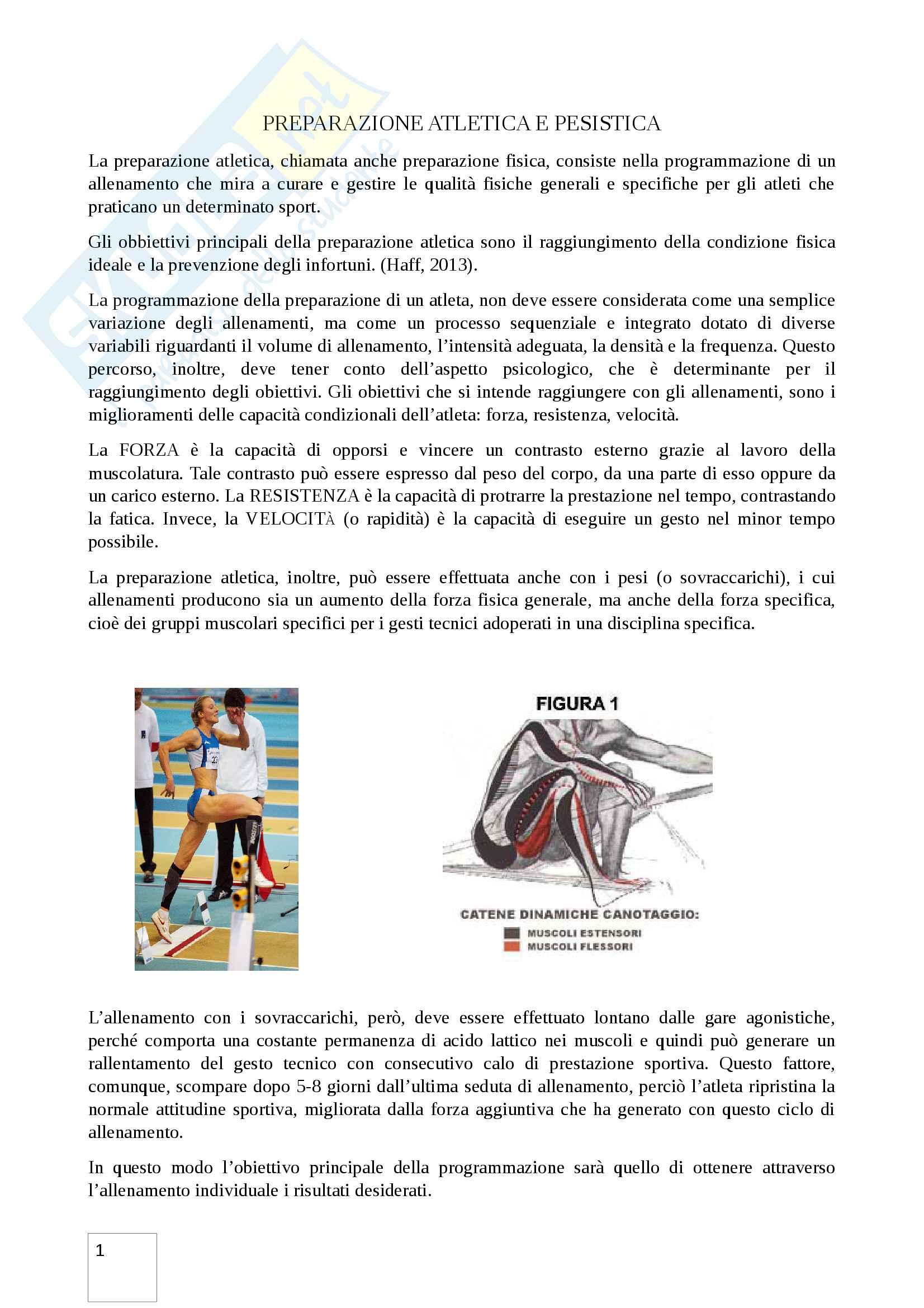 Preparazione atletica e pesistica: allenamento e supercompensazione