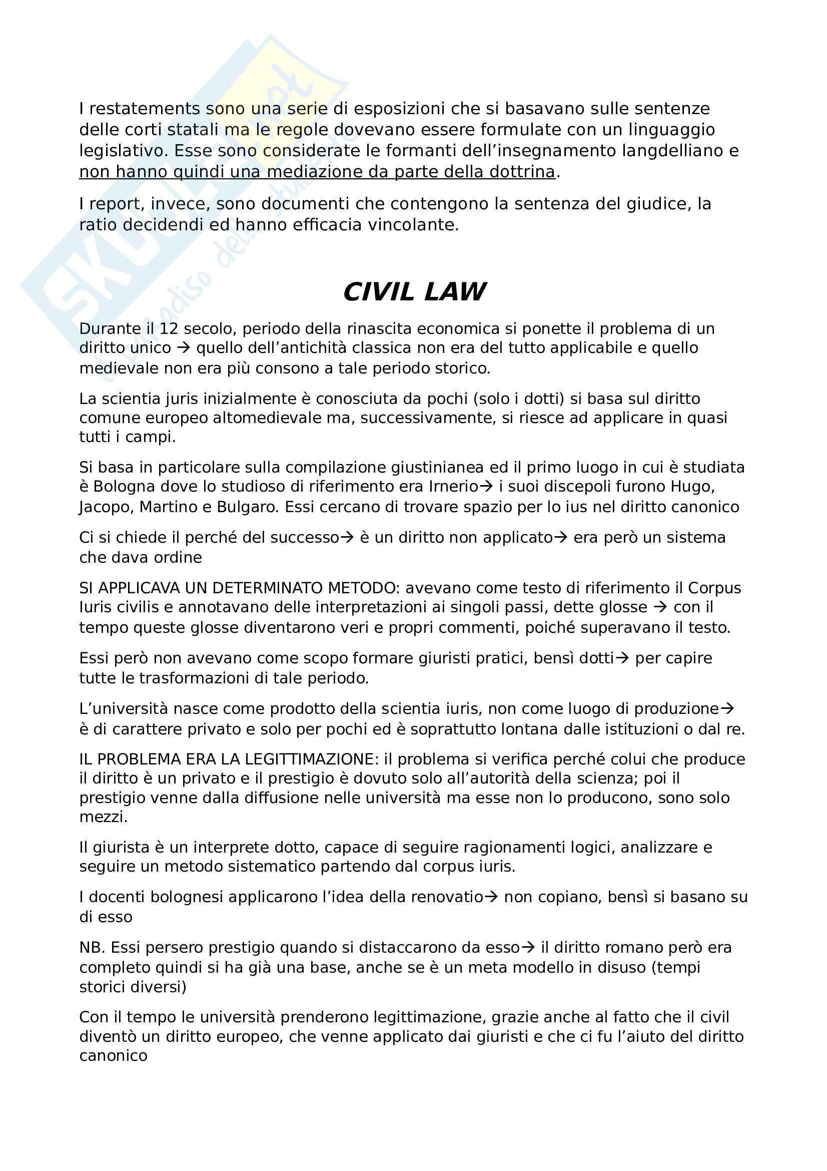 Domande e risposte Sistemi giuridici comparati Pag. 6
