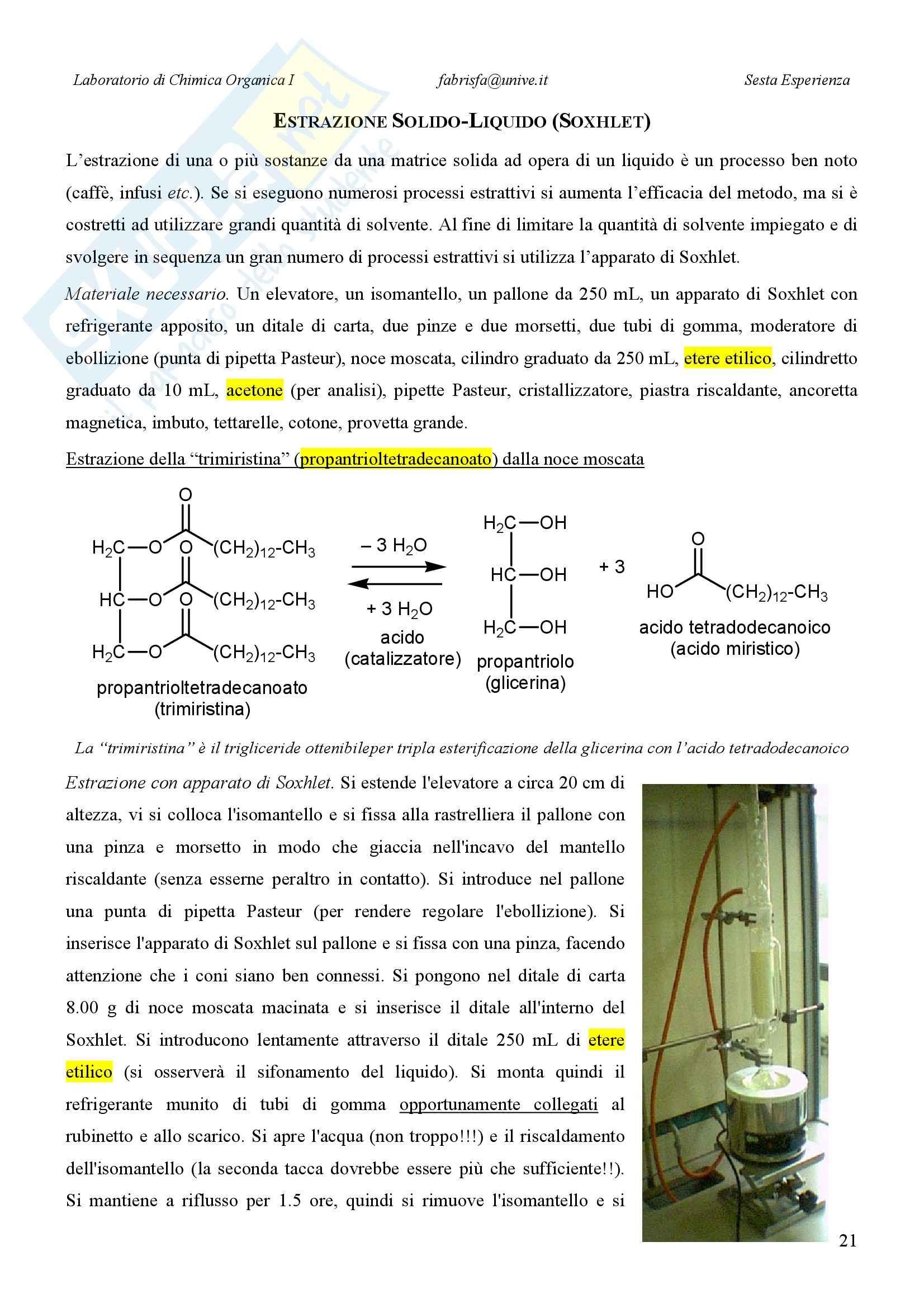 Laboratorio di estrazione e sintesi dei farmaci - Appunti Pag. 21