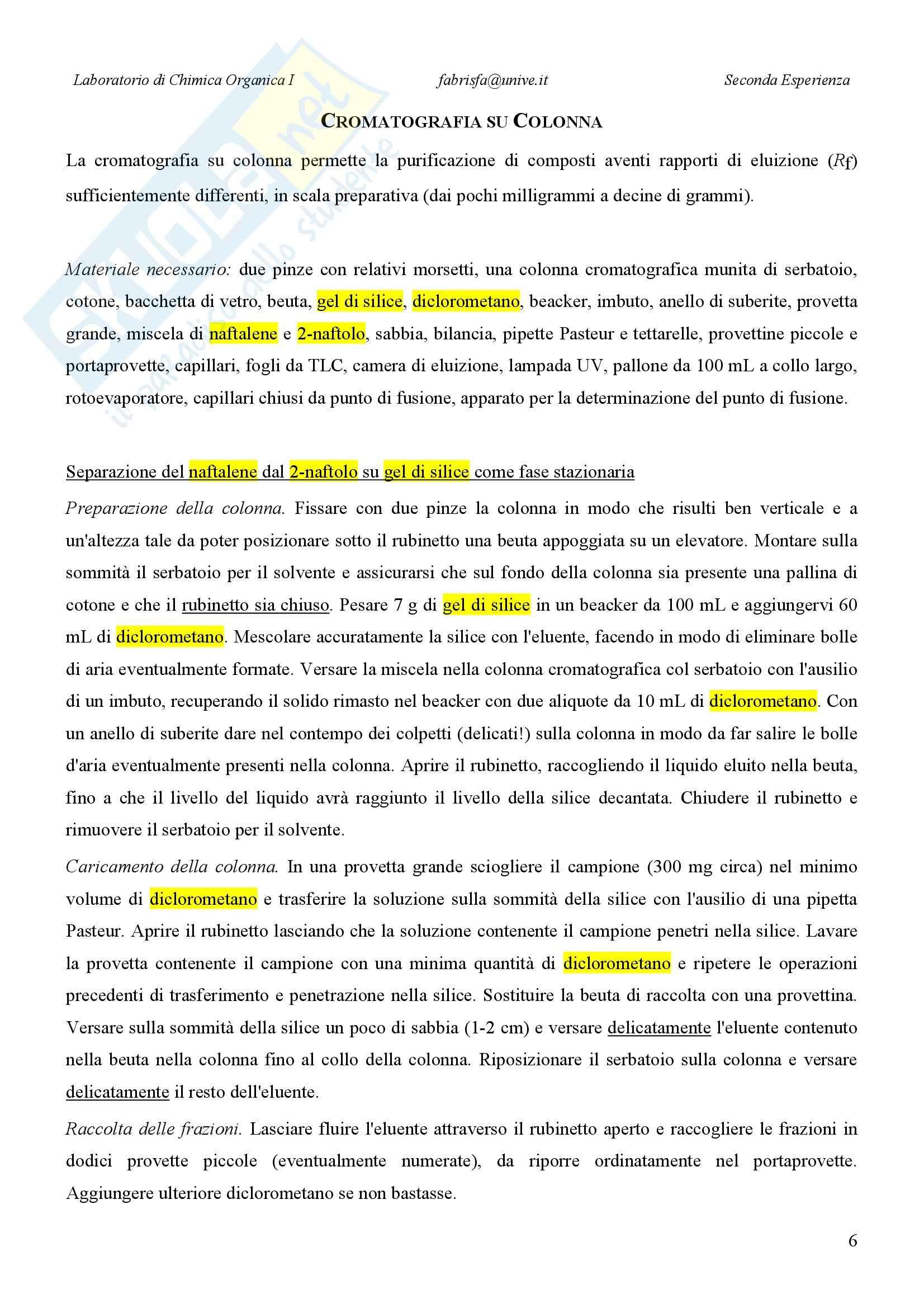 Laboratorio di estrazione e sintesi dei farmaci - Appunti Pag. 6