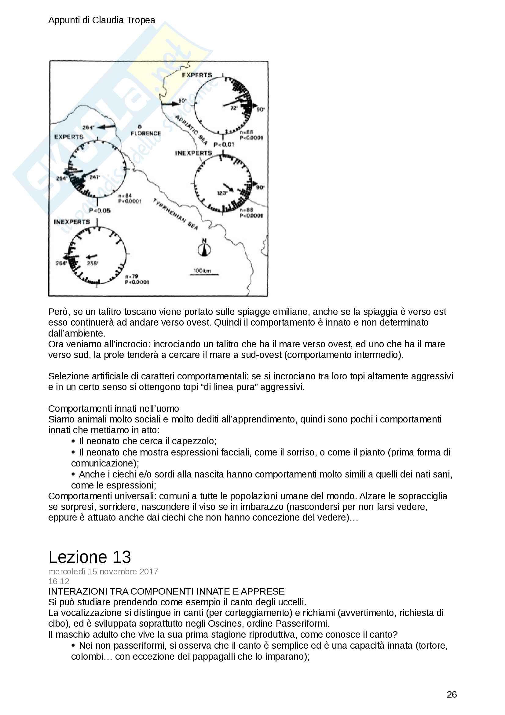 Appunti di Etologia - prof. Luschi Pag. 26