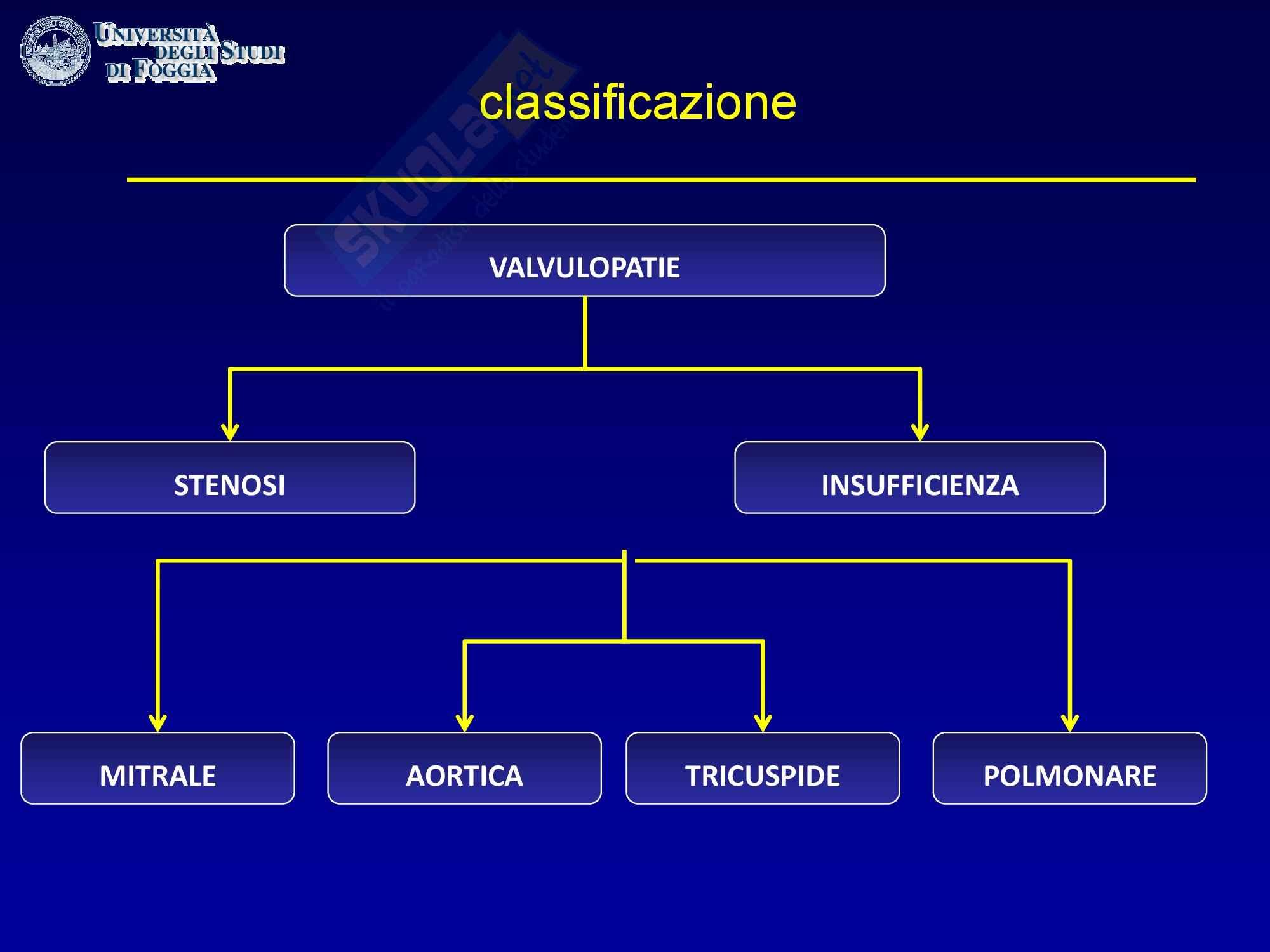 Cardiologia - la classificazione delle valvulopatie