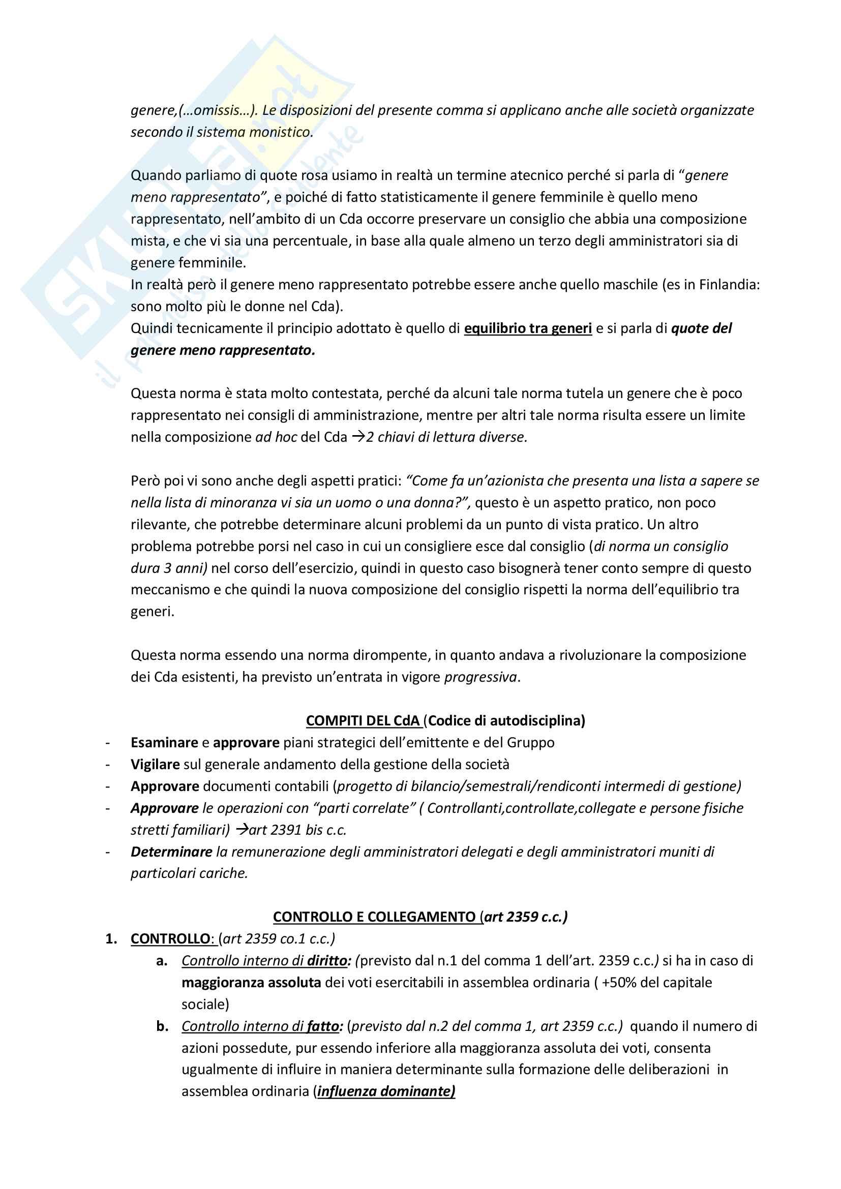 Nomina dei componenti del CDA di una quotata Pag. 2