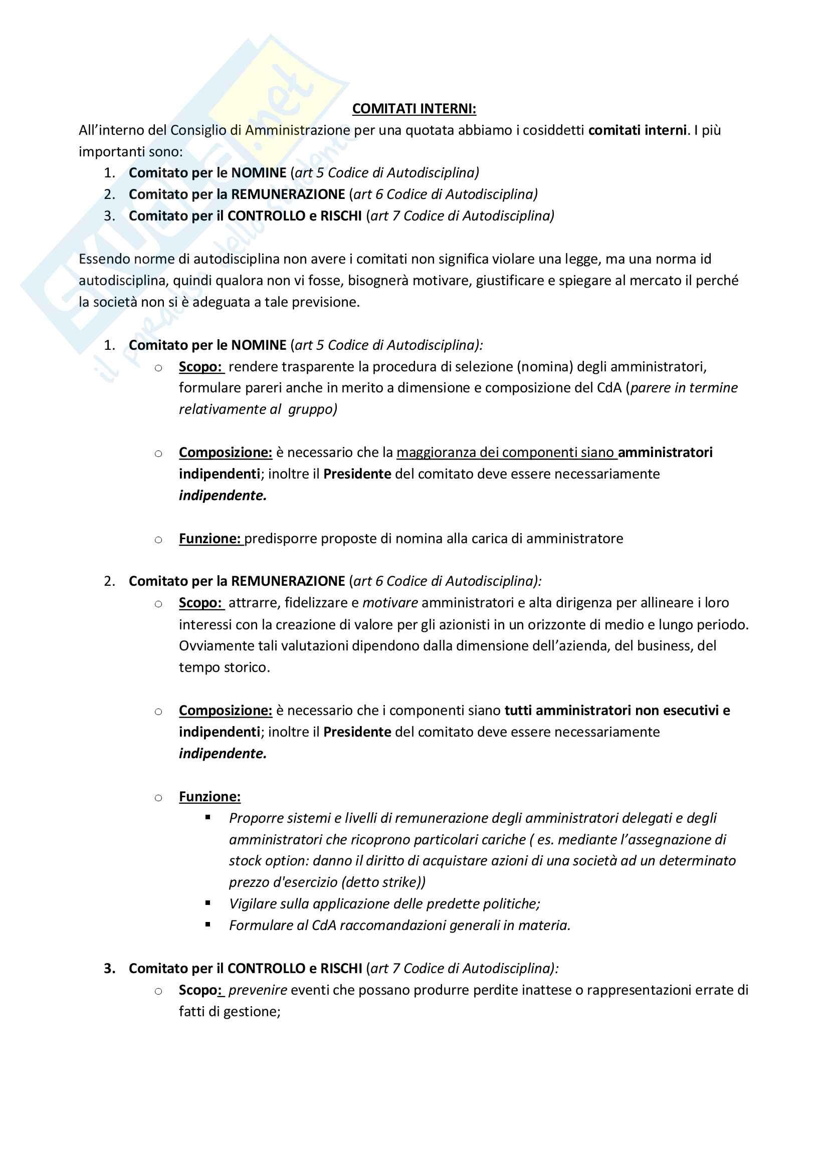 Nomina dei componenti del CDA di una quotata Pag. 6