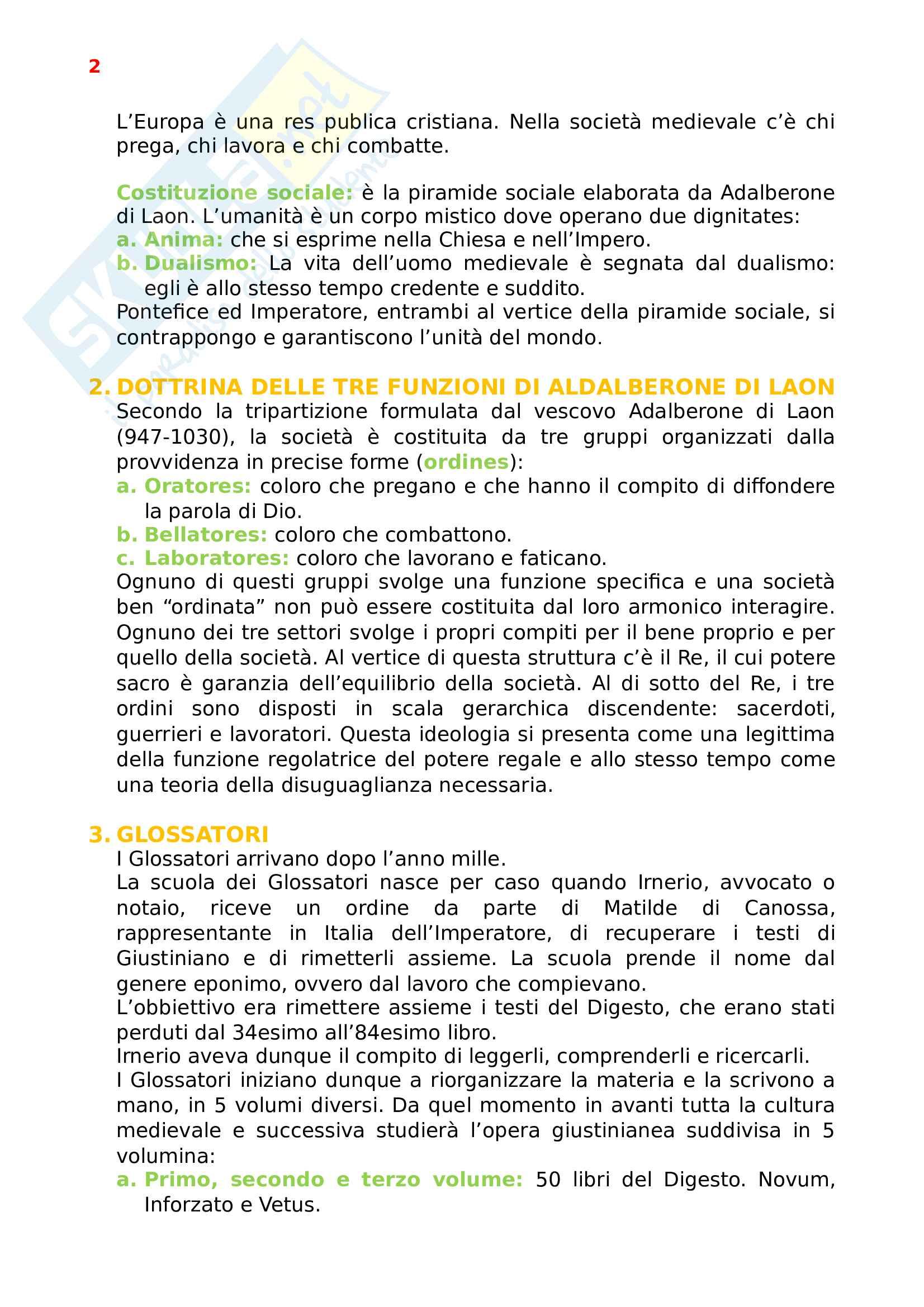 Appunti Storia del Diritto Medievale e Moderno - parte 1 Pag. 2