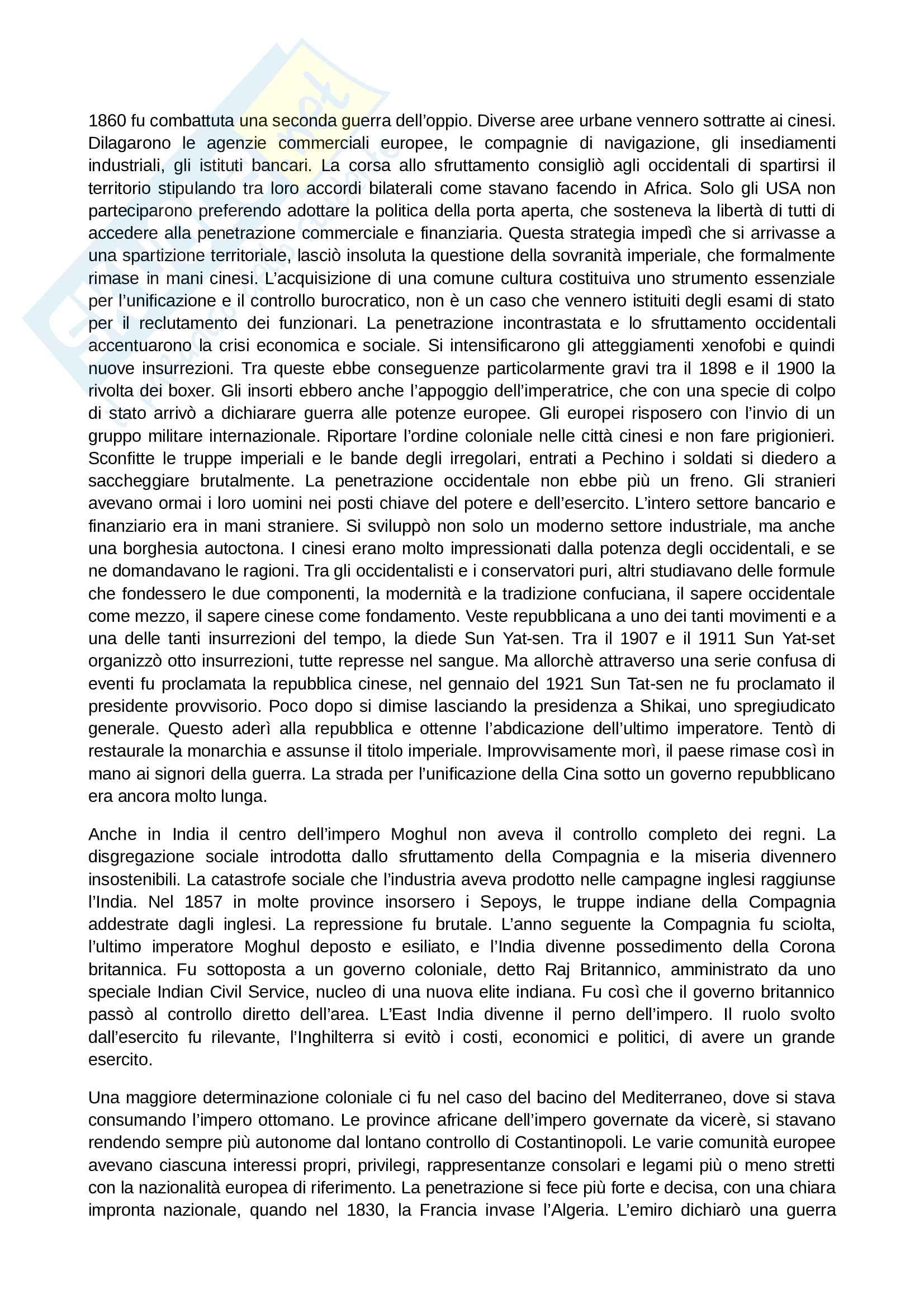 Riassunto esame Storia Contemporanea, prof. Papadia, libro consigliato Ottocento: Lezioni di Storia Contemporanea, Romanelli Pag. 26