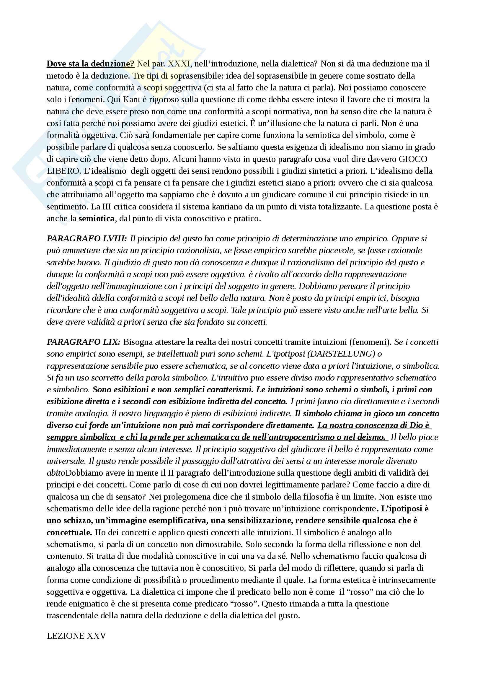 Riassunto esame filosofia estetica, prof. Velotti, libro consigliato La Critica del Giudizio Pag. 36
