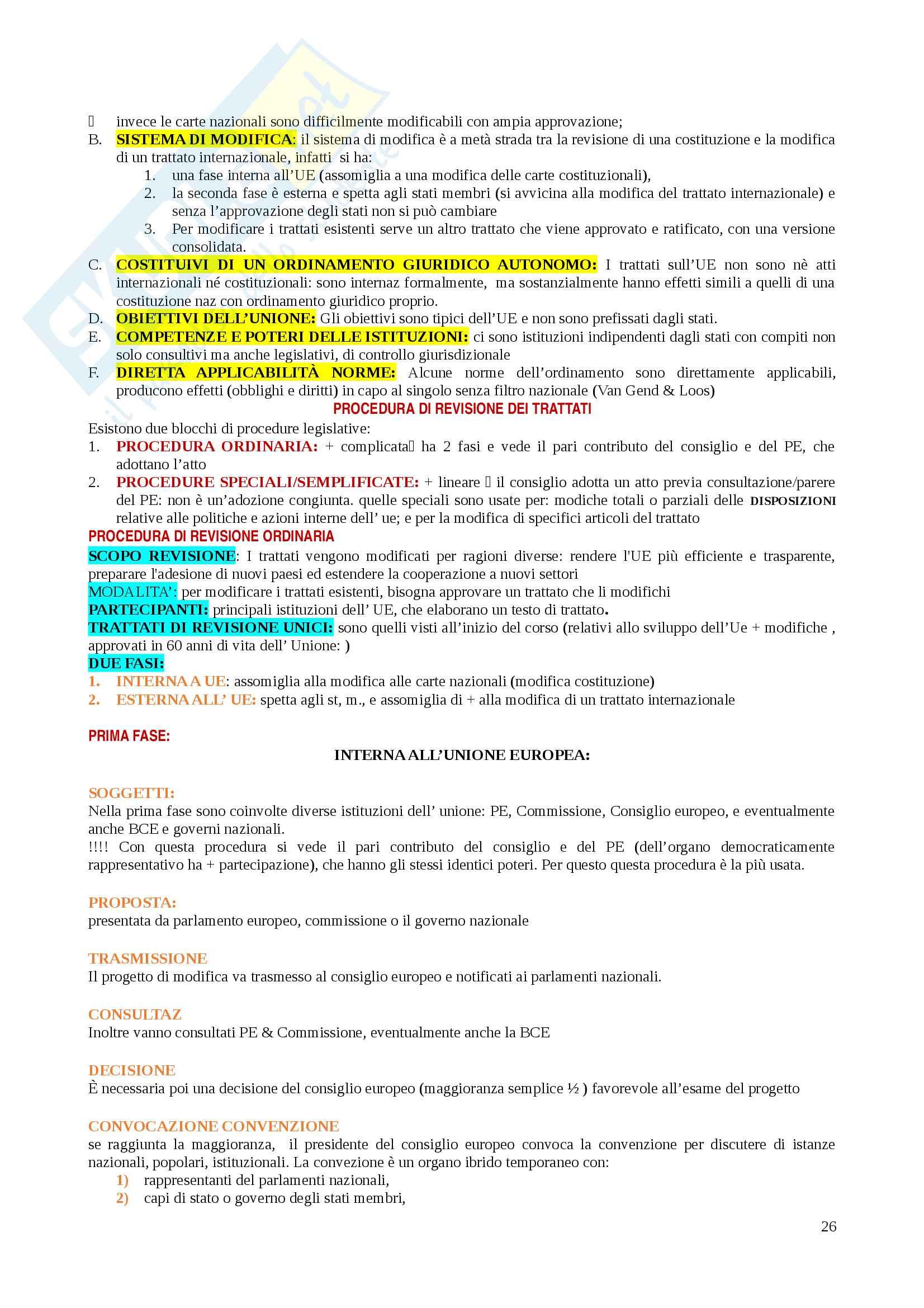 Riassunti Diritto dell'Unione Europea Pag. 26