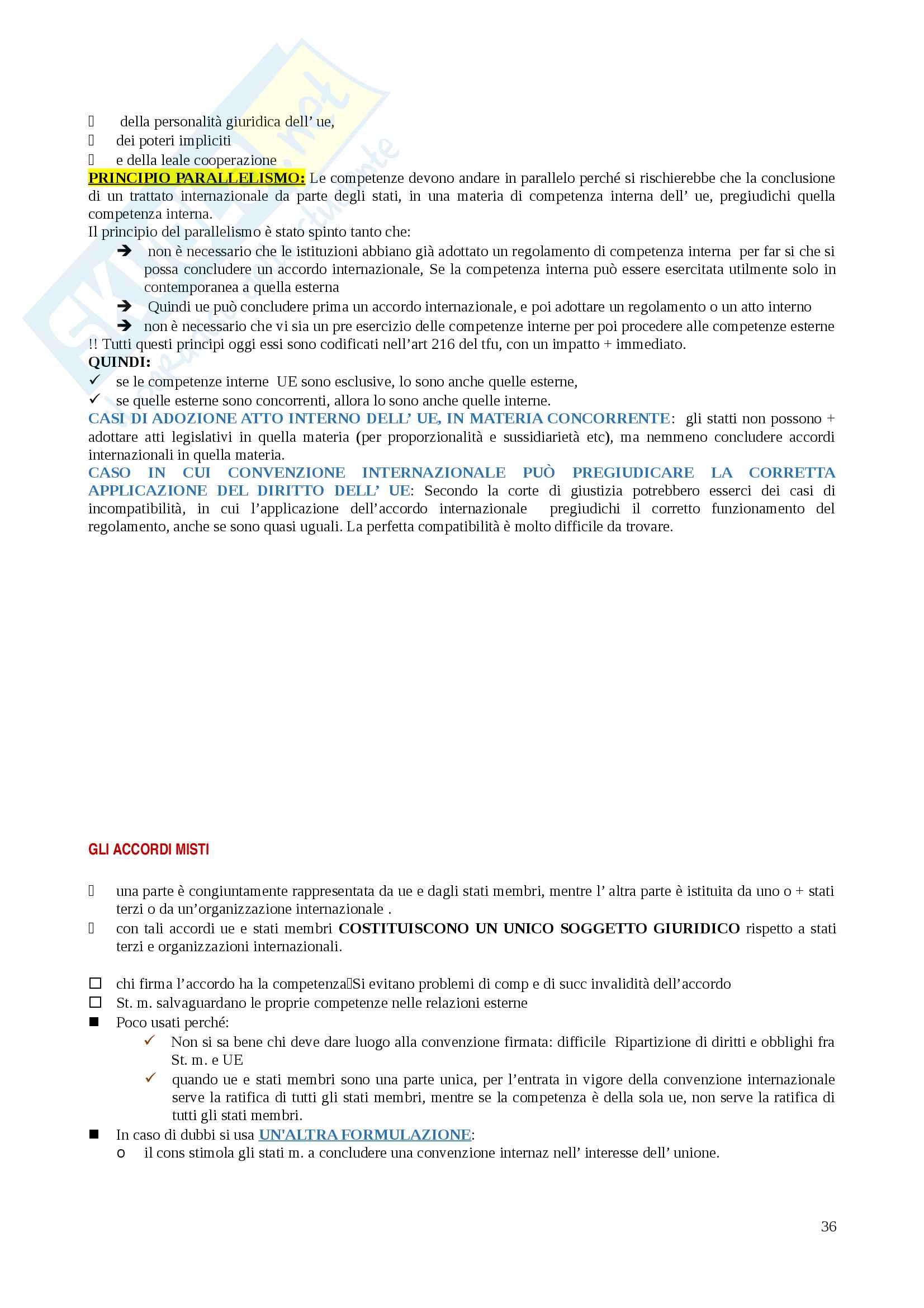 Riassunti Diritto dell'Unione Europea Pag. 36