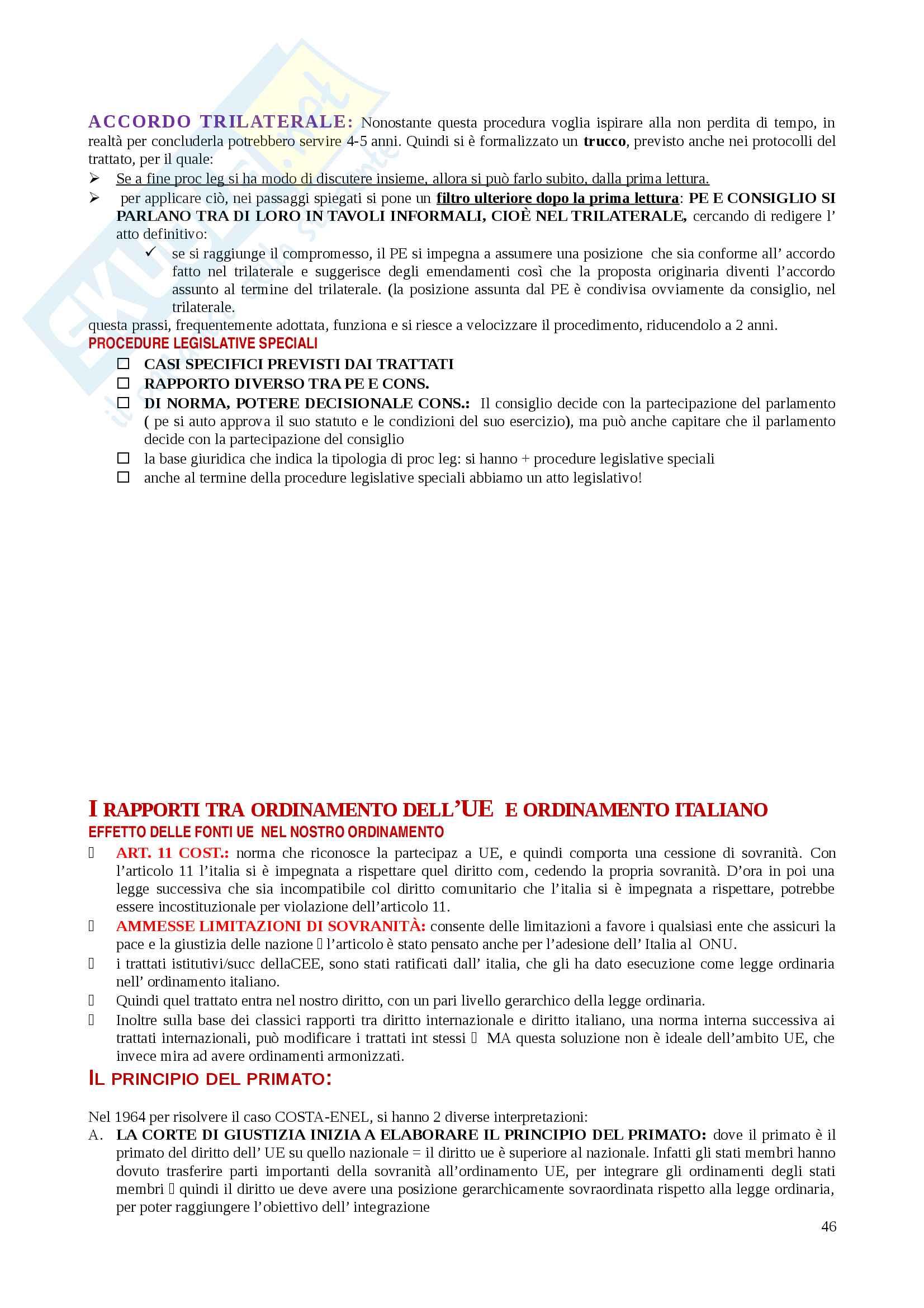 Riassunti Diritto dell'Unione Europea Pag. 46
