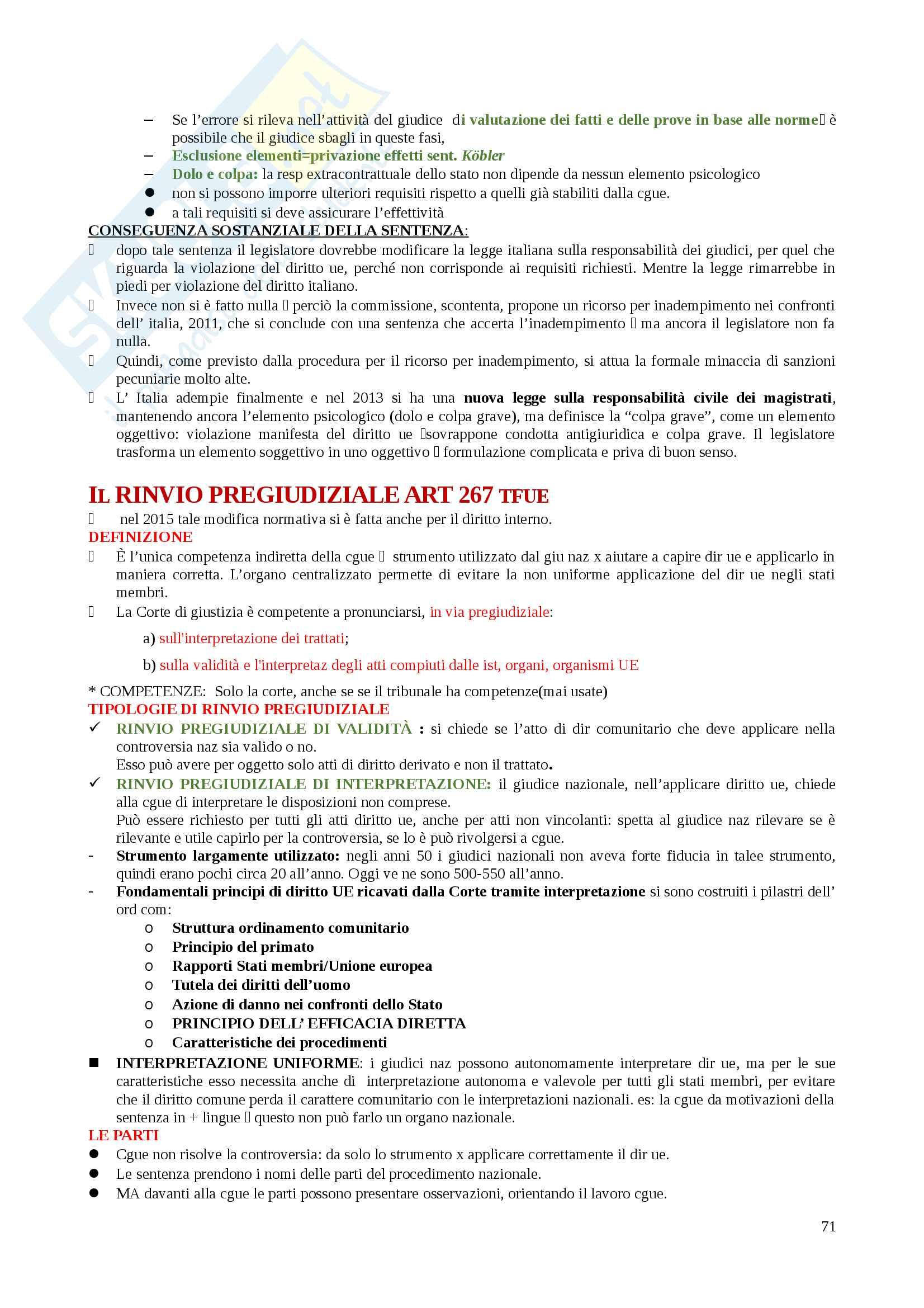 Riassunti Diritto dell'Unione Europea Pag. 71