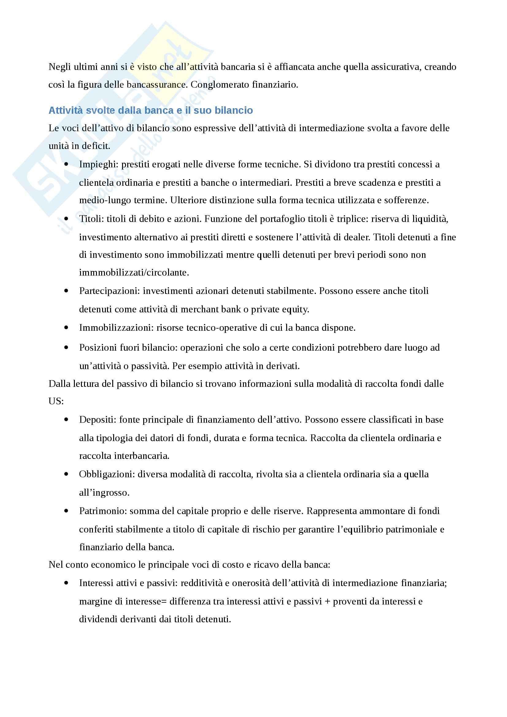 Riassunto esame Economia degli Intermediari Finanziari, prof. Gualtieri, libro consigliato Il Sistema Finanziario, Bongini, Di Battista, Paternello Pag. 31