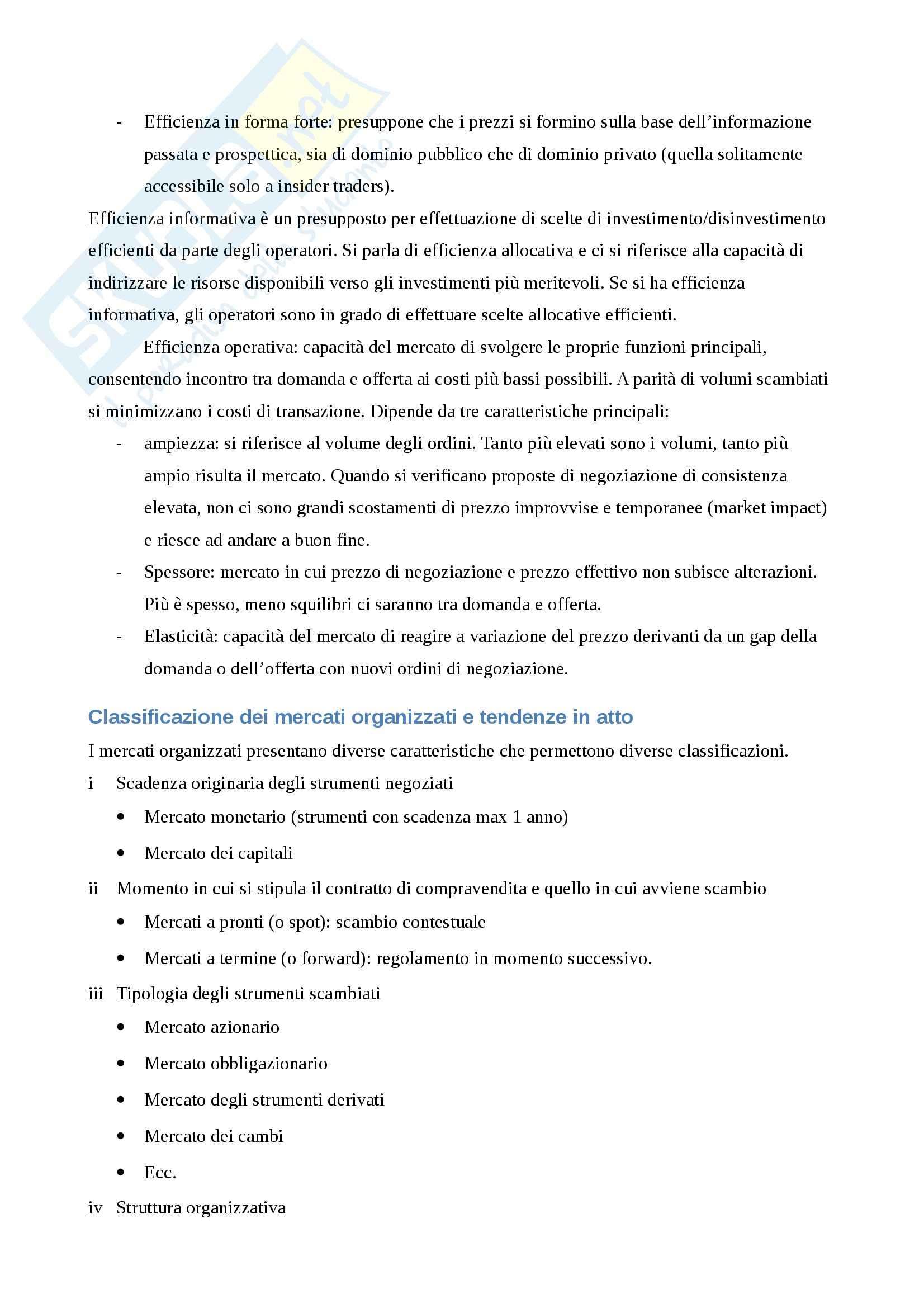 Riassunto esame Economia degli Intermediari Finanziari, prof. Gualtieri, libro consigliato Il Sistema Finanziario, Bongini, Di Battista, Paternello Pag. 36