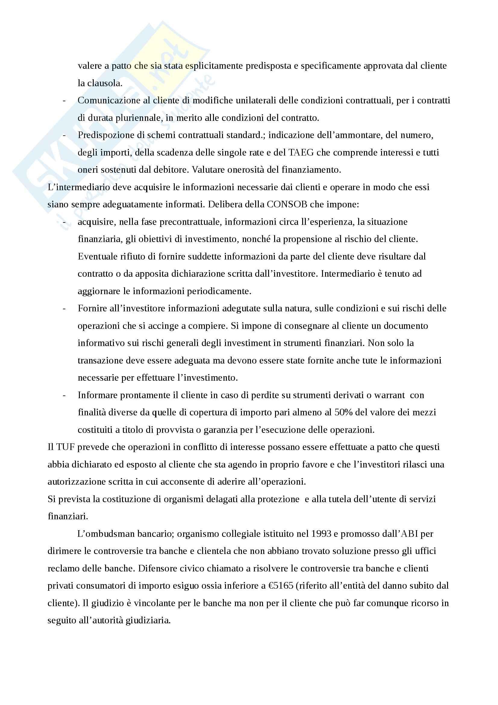 Riassunto esame Economia degli Intermediari Finanziari, prof. Gualtieri, libro consigliato Il Sistema Finanziario, Bongini, Di Battista, Paternello Pag. 71