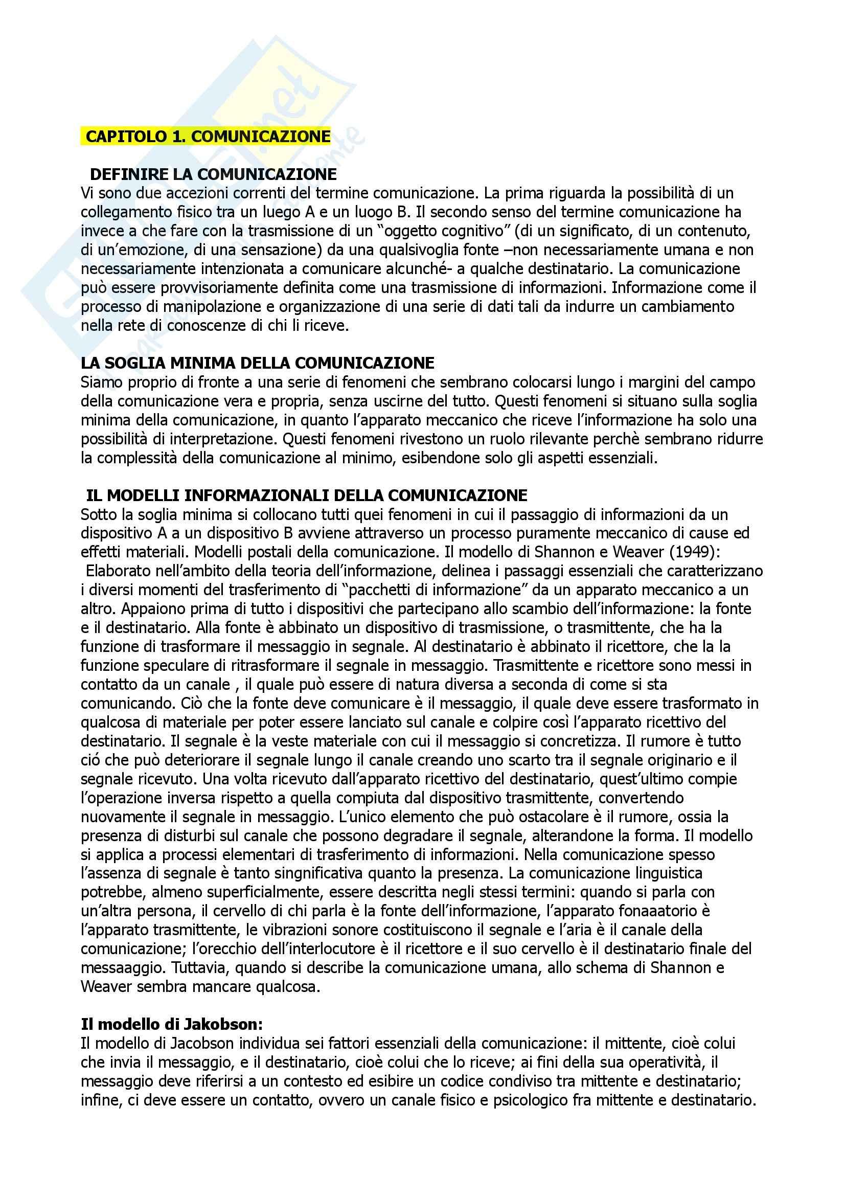 Riassunto esame Fondamenti di semiotica, prof. Pisanty, libro consigliato Semiotica