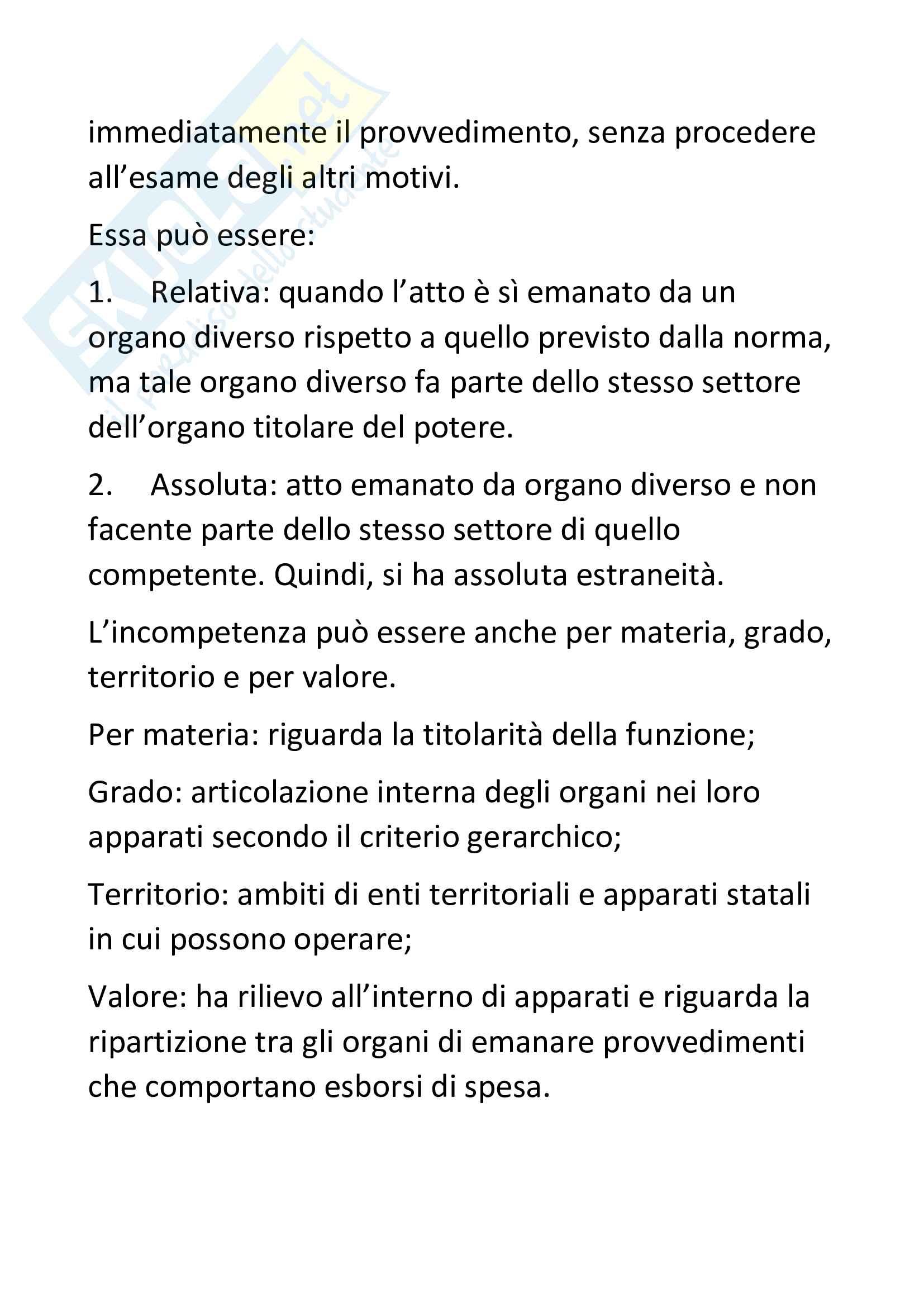 Riassunto di Diritto amministrativo Pag. 2