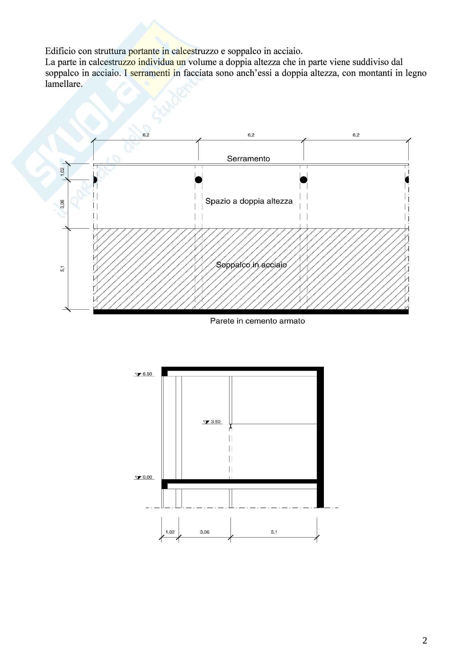 Esercitazione Tecniche delle Costruzioni